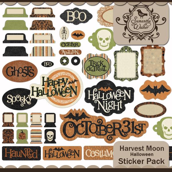 Harvest Moon Halloween Stickers