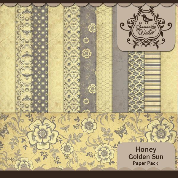 Honey Golden Sunlight Paper Pack