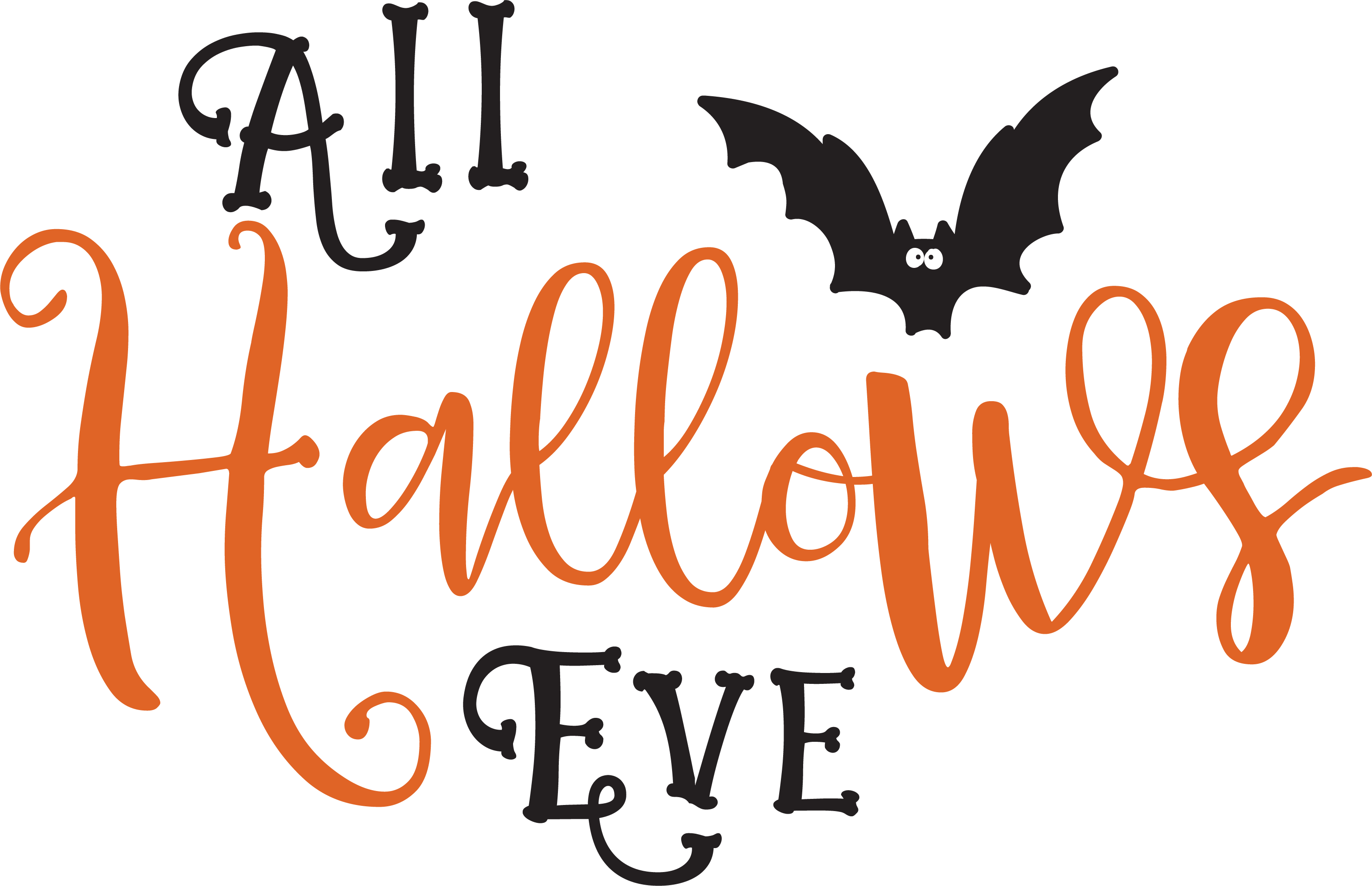 All Hallows Eve SVG Cut File