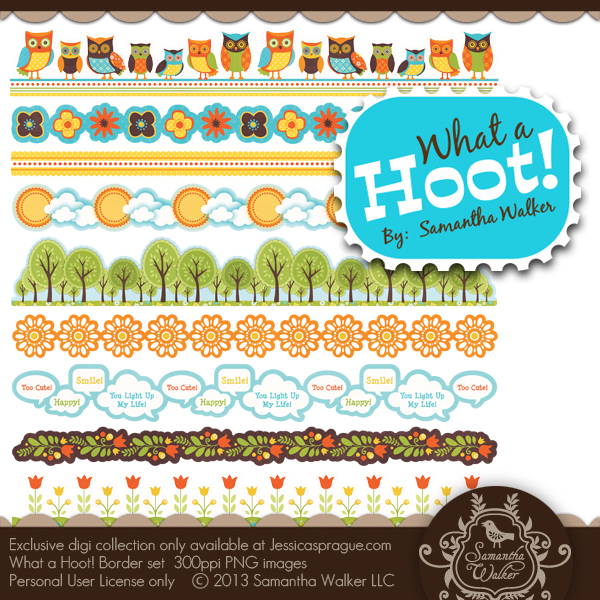 What a Hoot! Sticker Borders