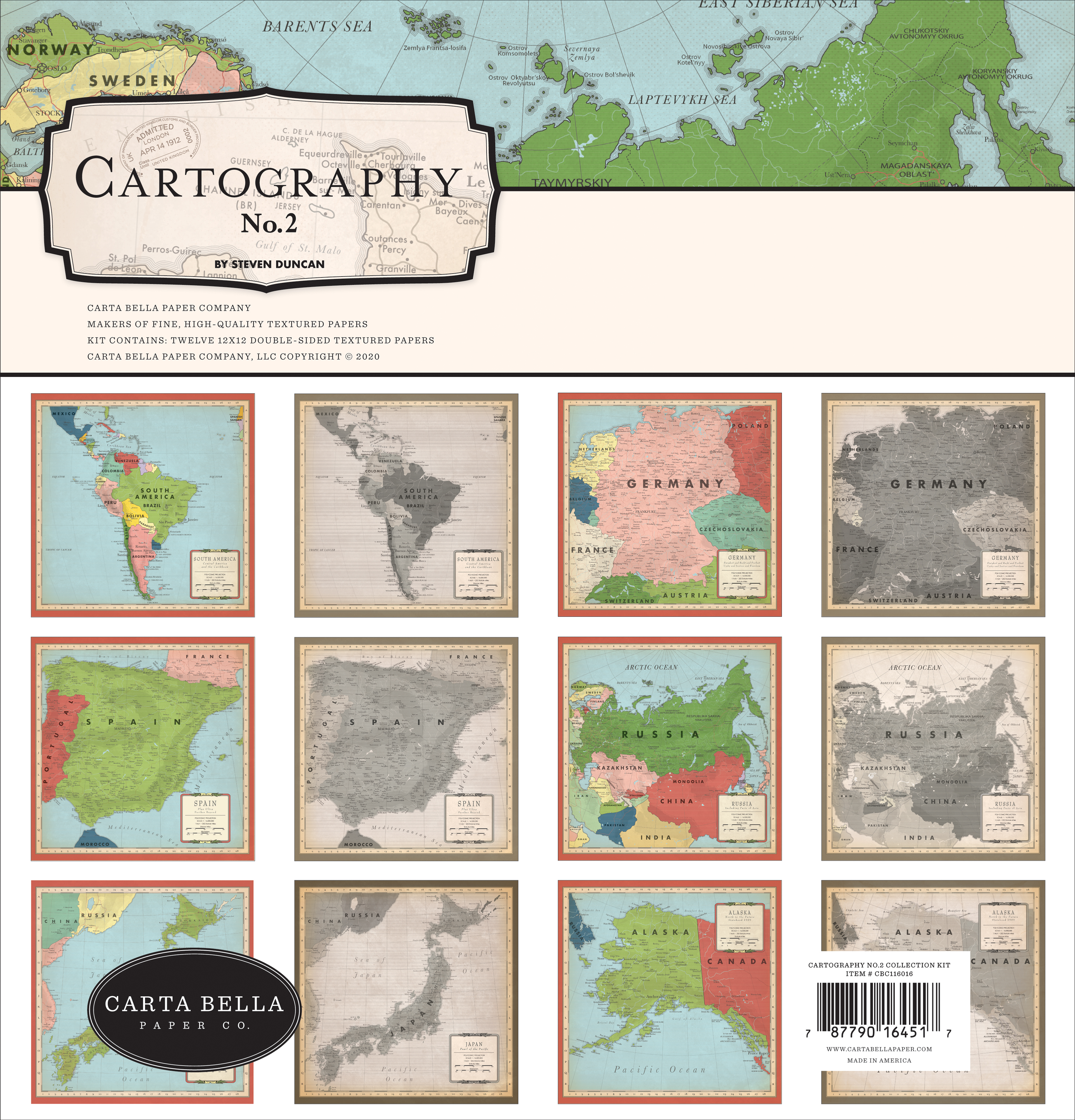 Cartography No. 2 Collection Kit