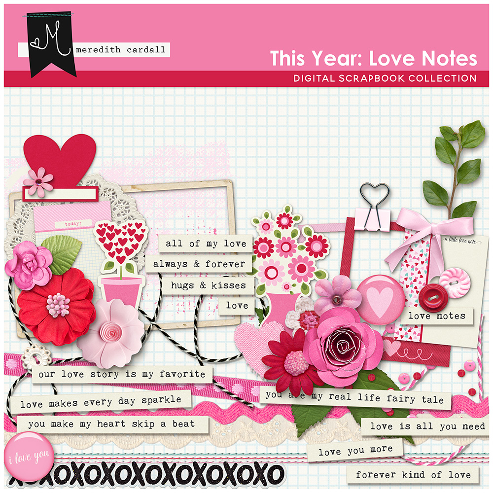 This Year: Love Notes Elements