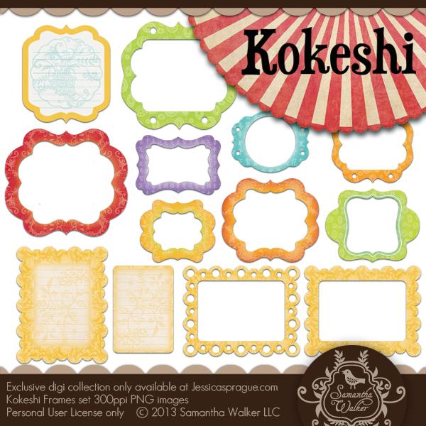 Kokeshi Frames Set