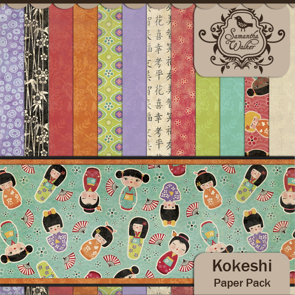 Kokeshi Paper Pack