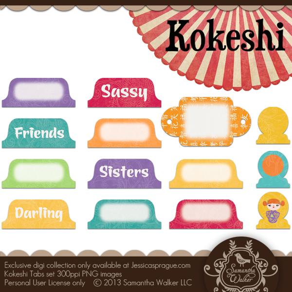 Kokeshi Tabs Set