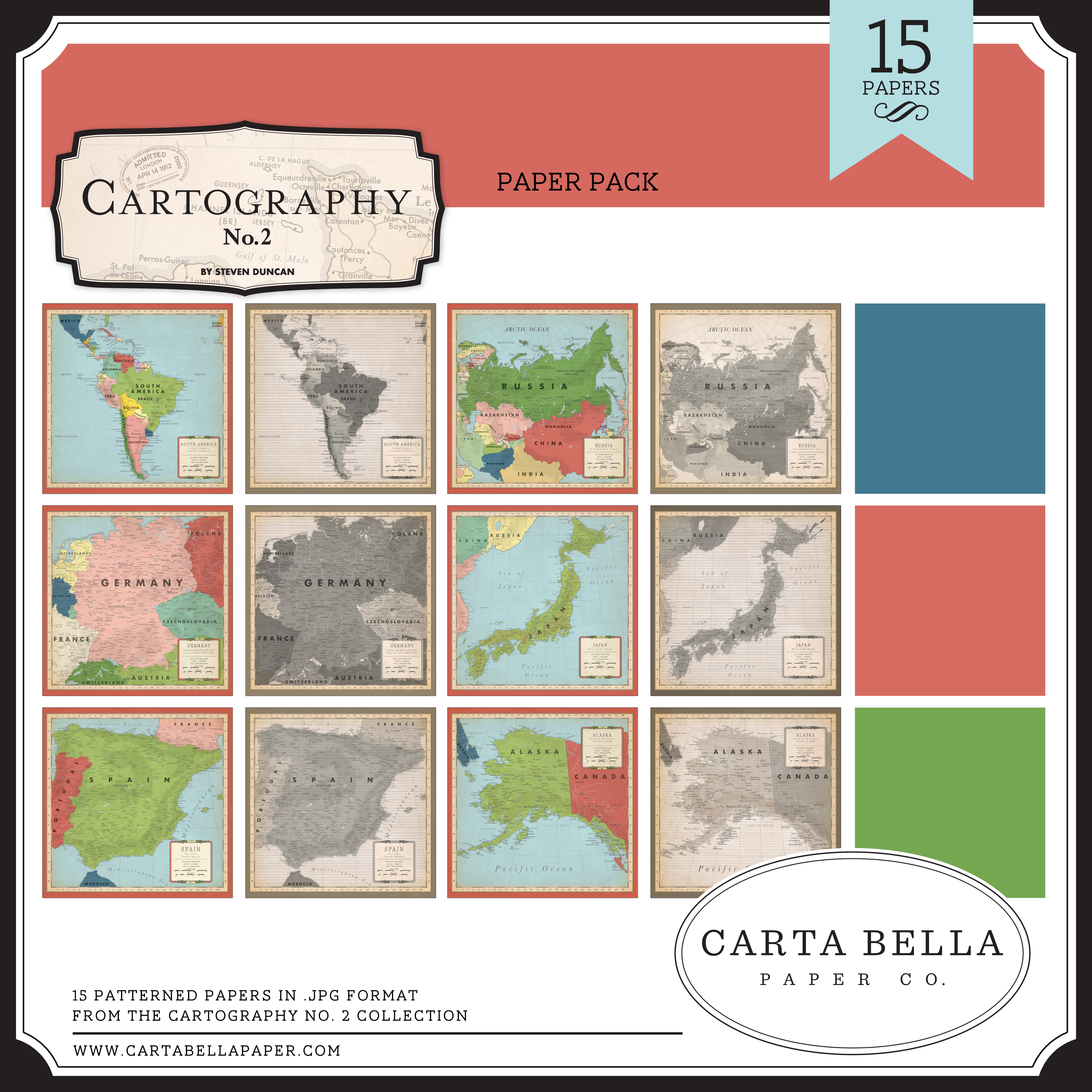 Cartography No. 2 Paper Pack