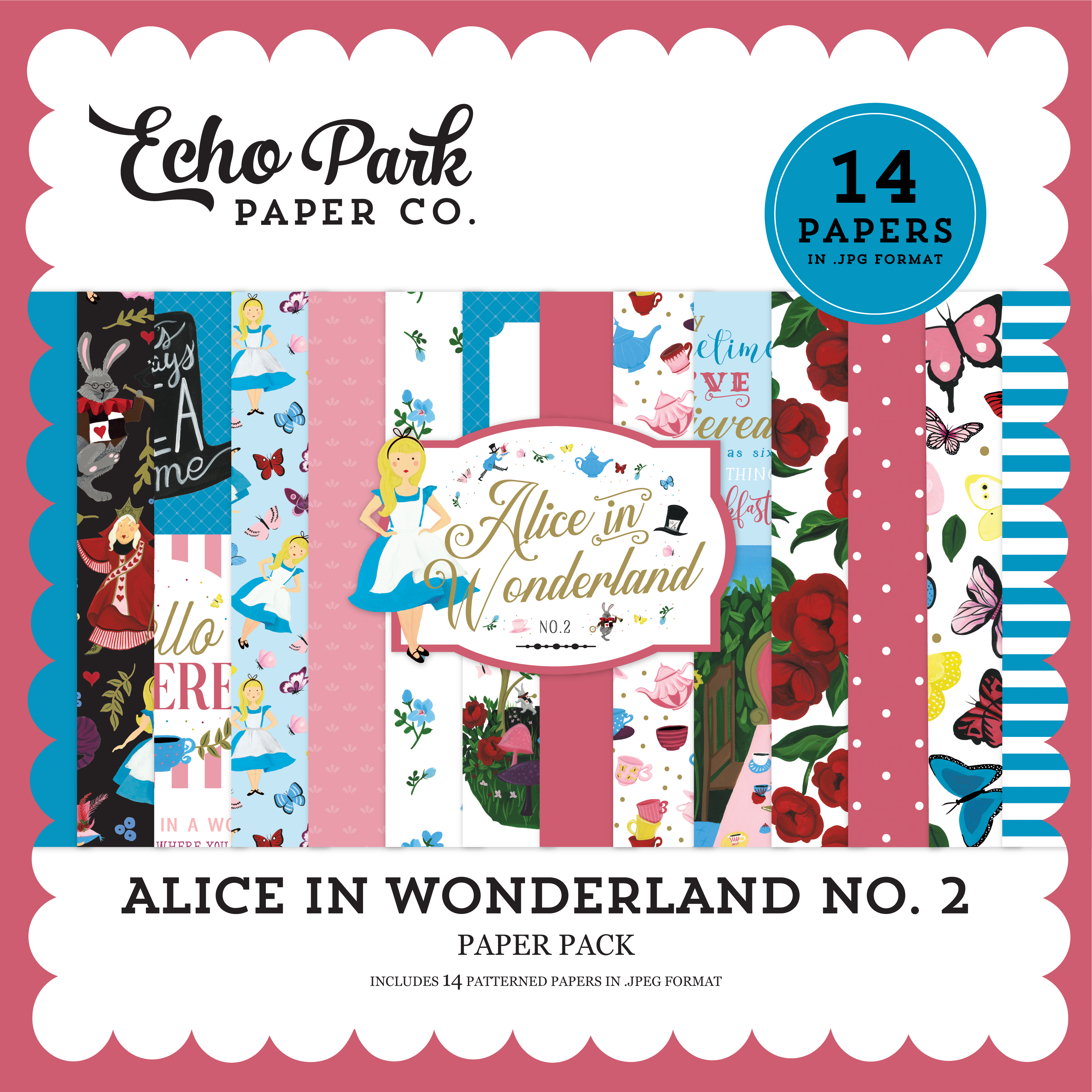Alice in Wonderland No. 2 Paper Pack