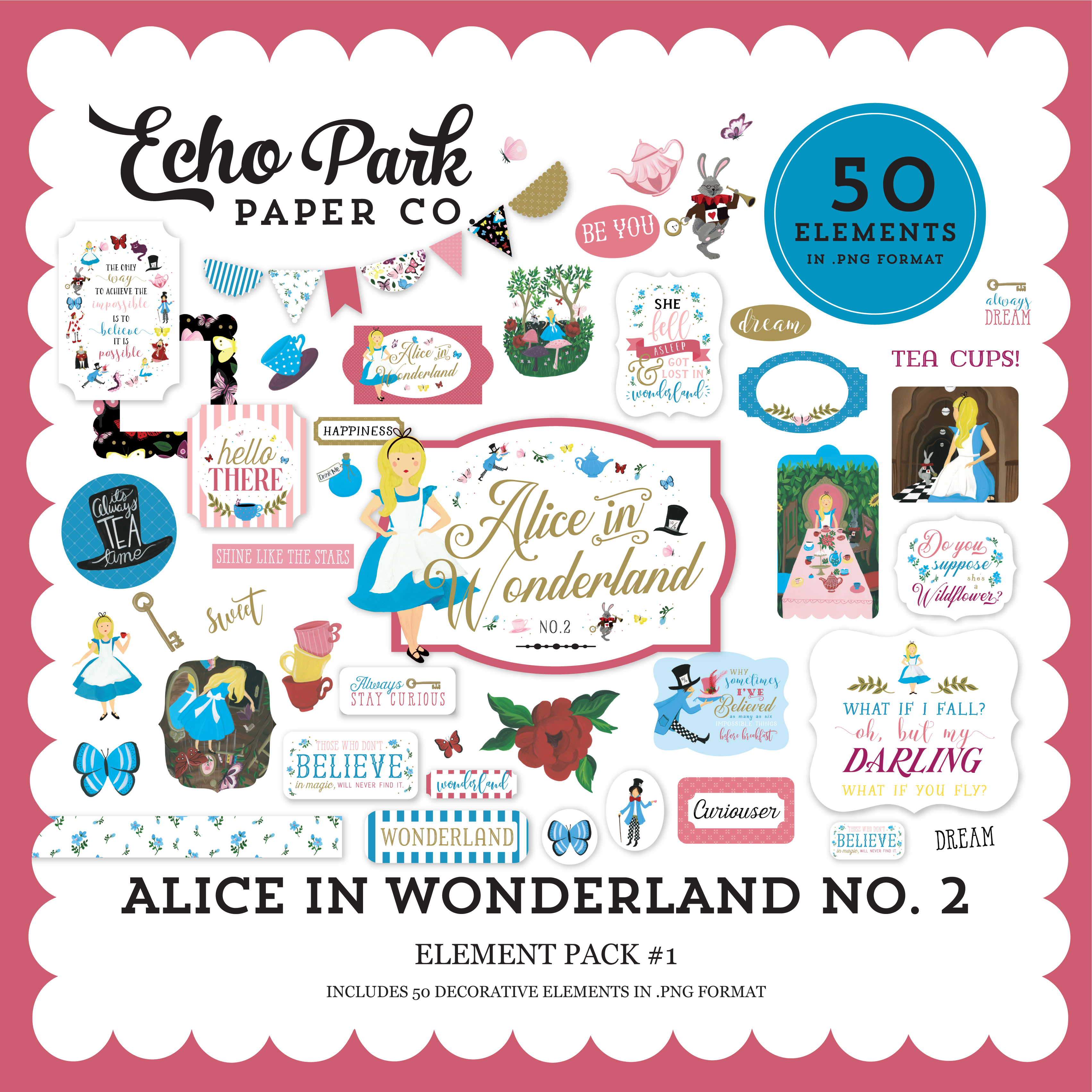 Alice in Wonderland No. 2 Element Pack #1