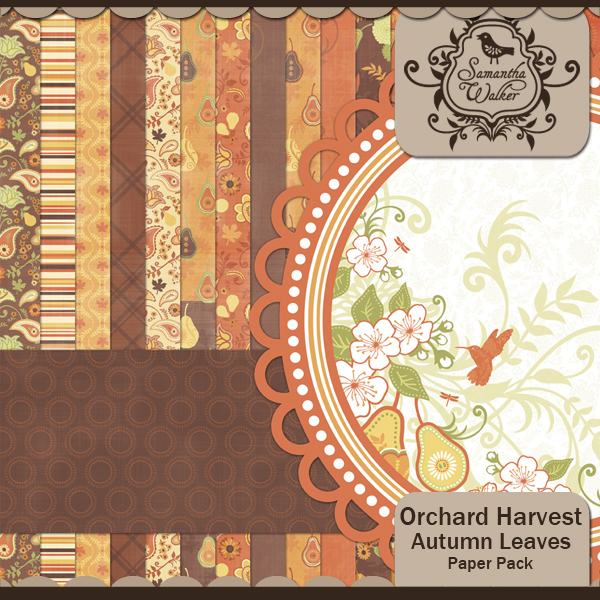 Orchard Harvest Autumn Leaves paper pack
