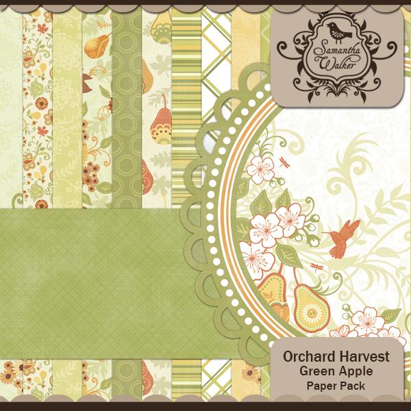 Orchard Harvest Green Apple Paper Pack