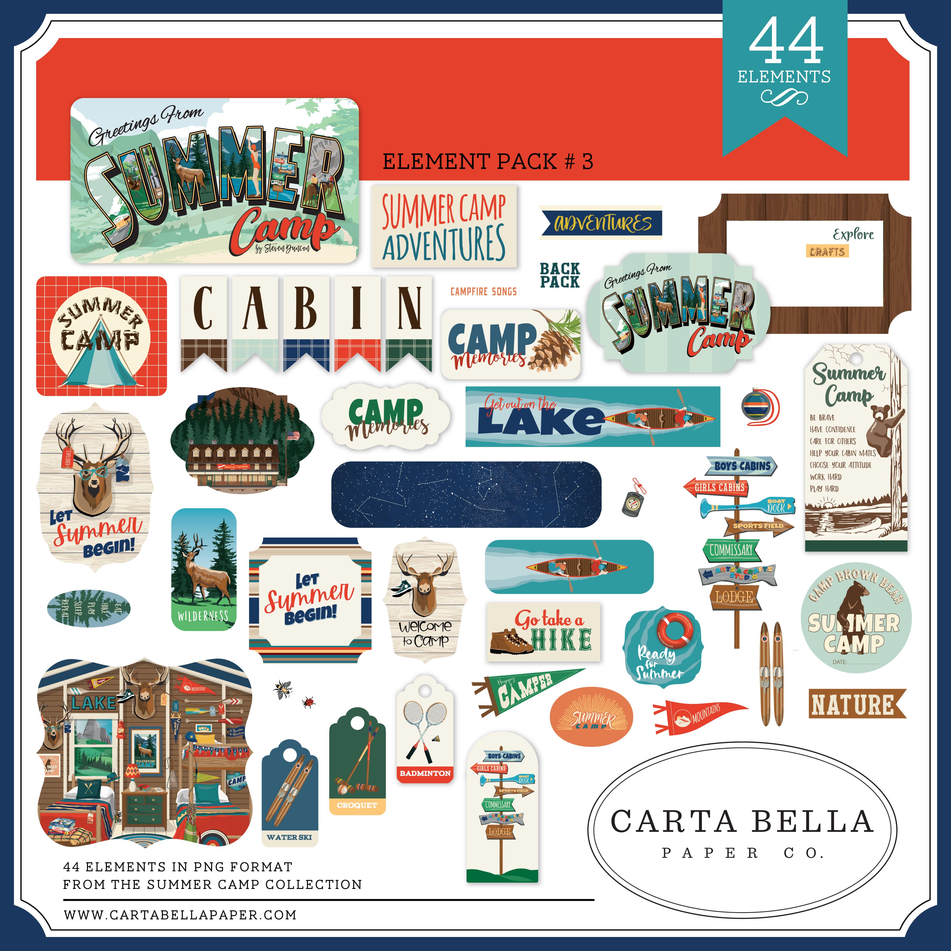 Summer Camp Element Pack #3