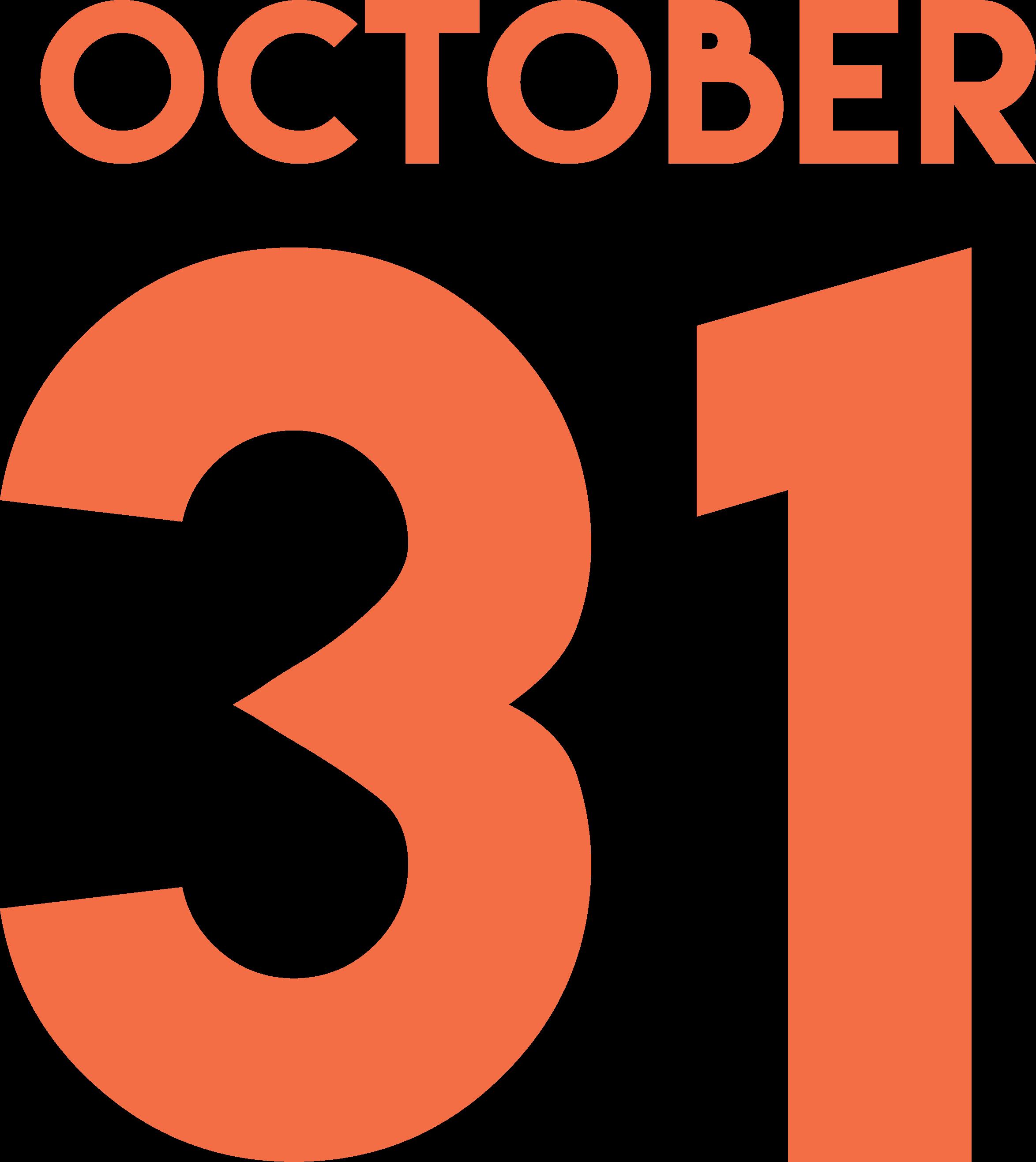 Happy Halloween October 31 SVG Cut File