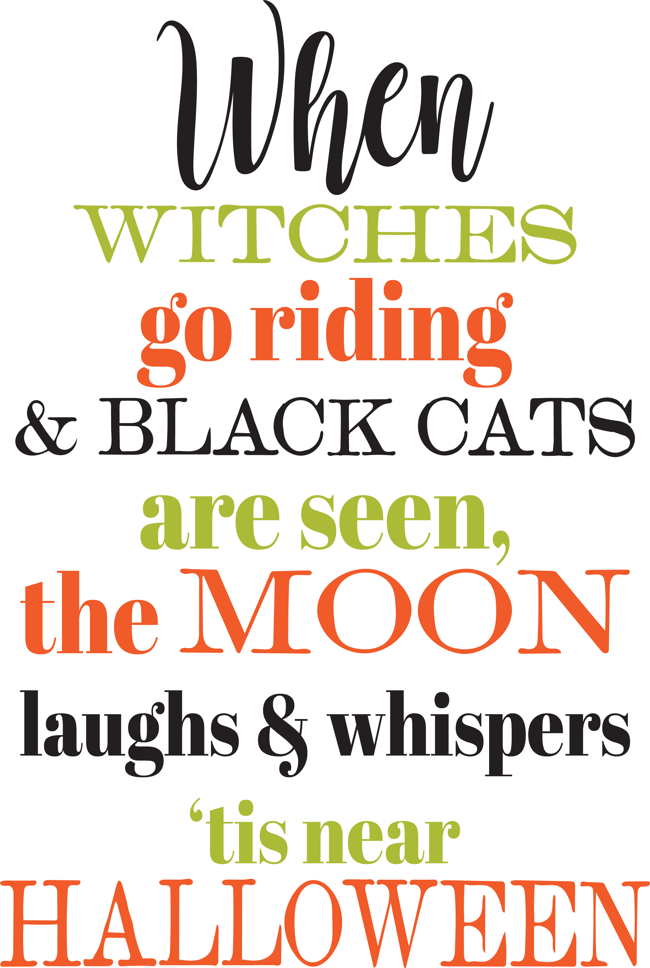 Witches Go Riding SVG Cut File