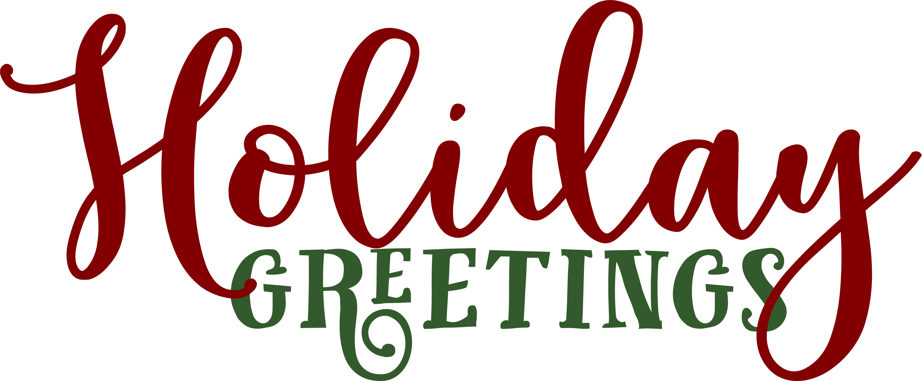 Holiday Greetings SVG Cut File