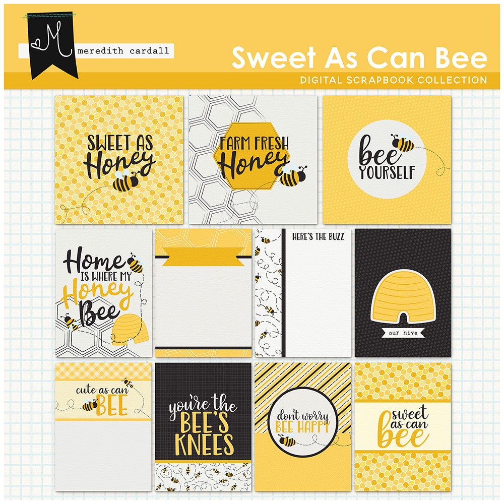 Sweet As Can Bee Journal Cards