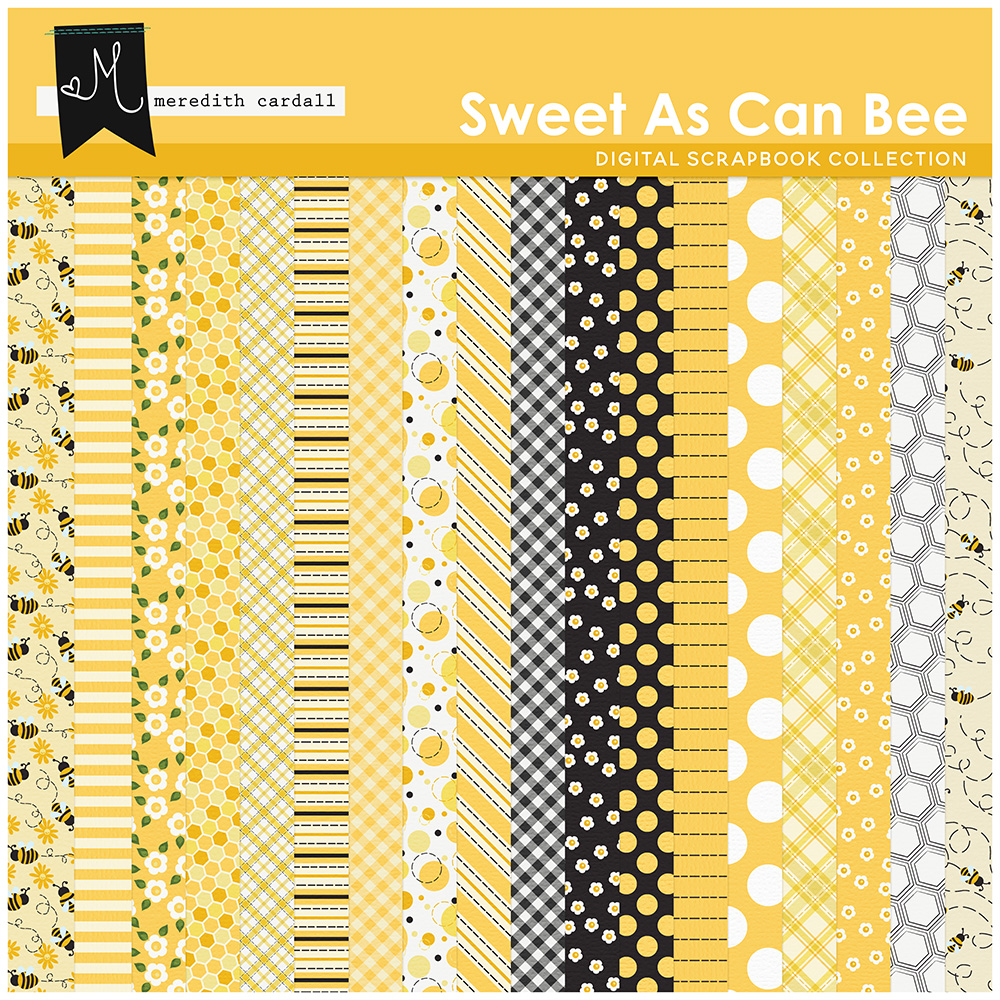 Sweet As Can Bee Paper Pack 1