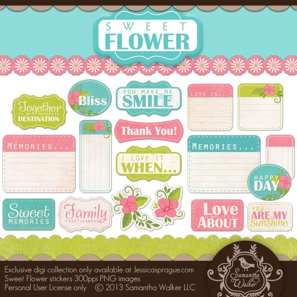 Sweet Flower Stickers