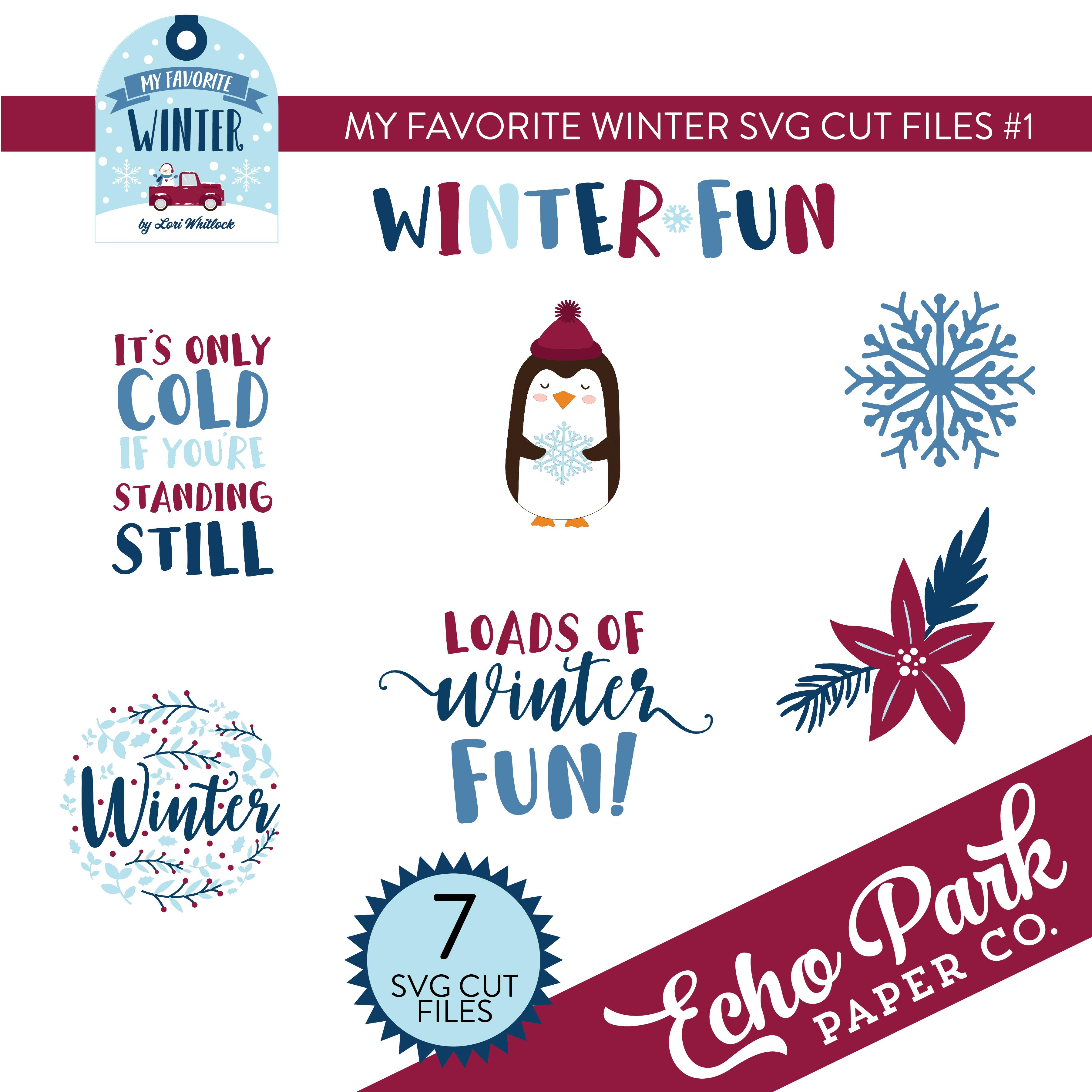 My Favorite Winter SVG Cut Files #1