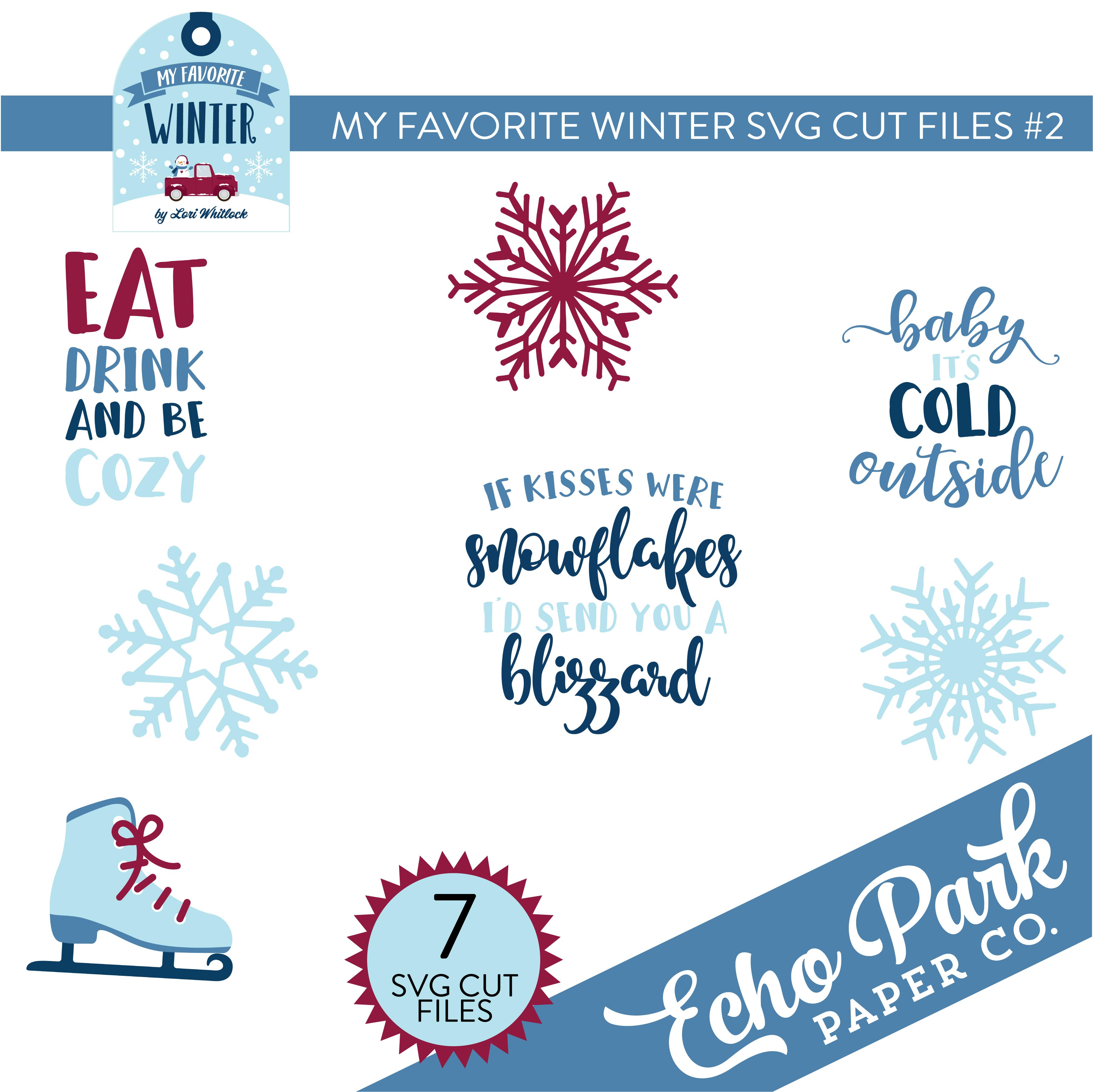 My Favorite Winter SVG Cut Files #2
