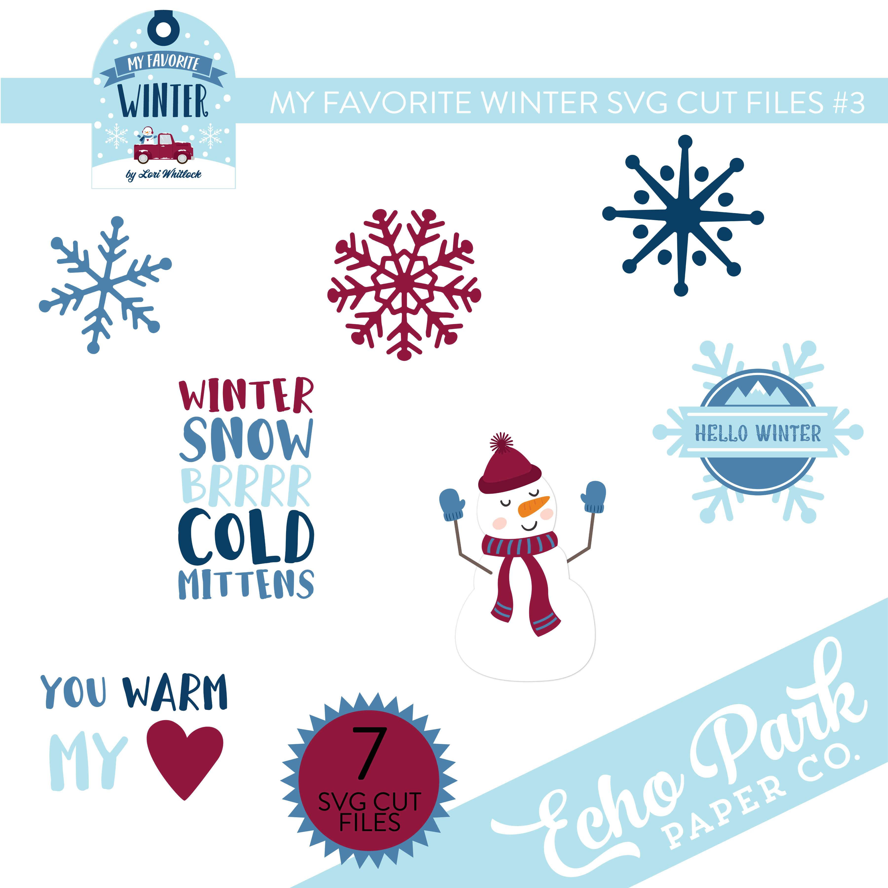 My Favorite Winter SVG Cut Files #3