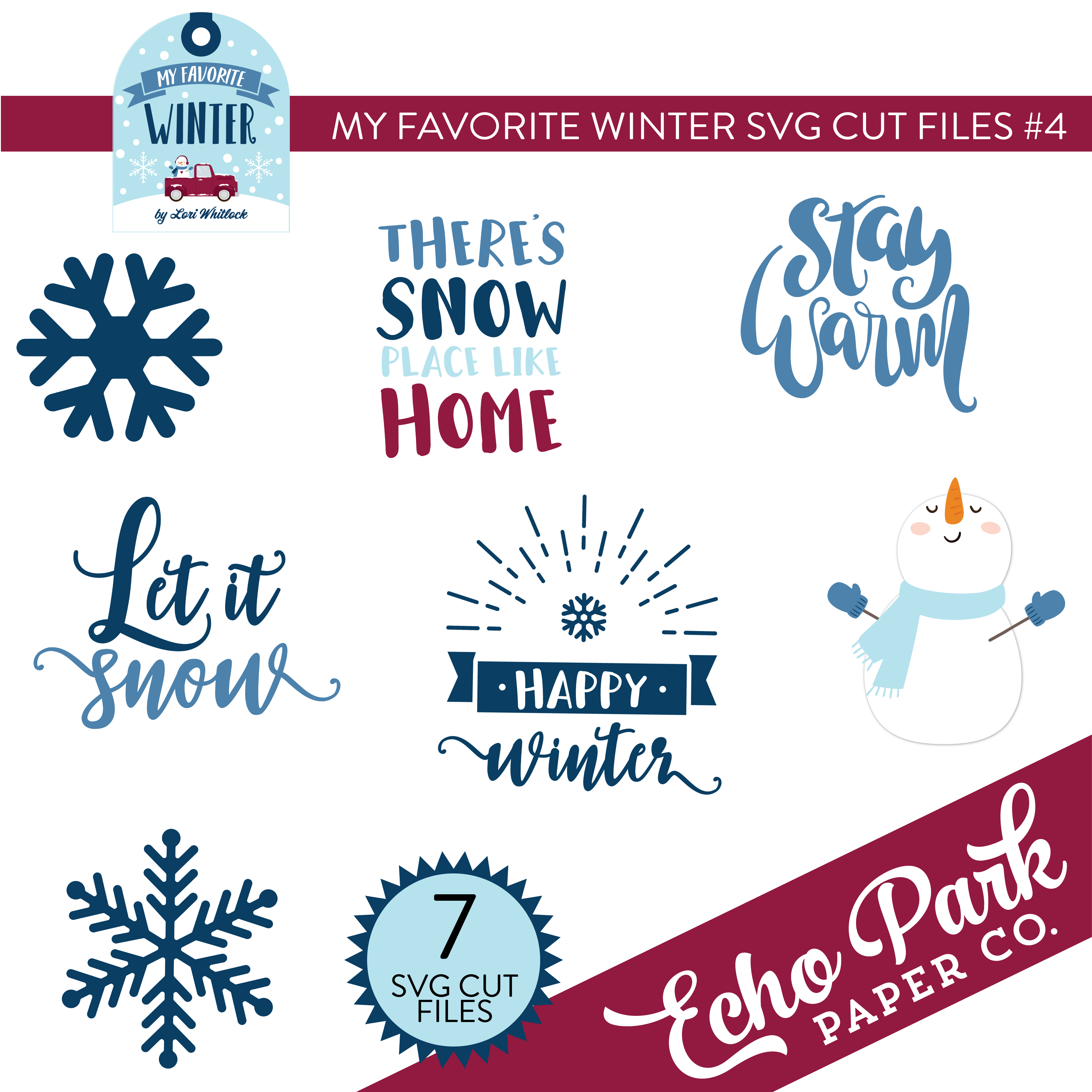 My Favorite Winter SVG Cut Files #4