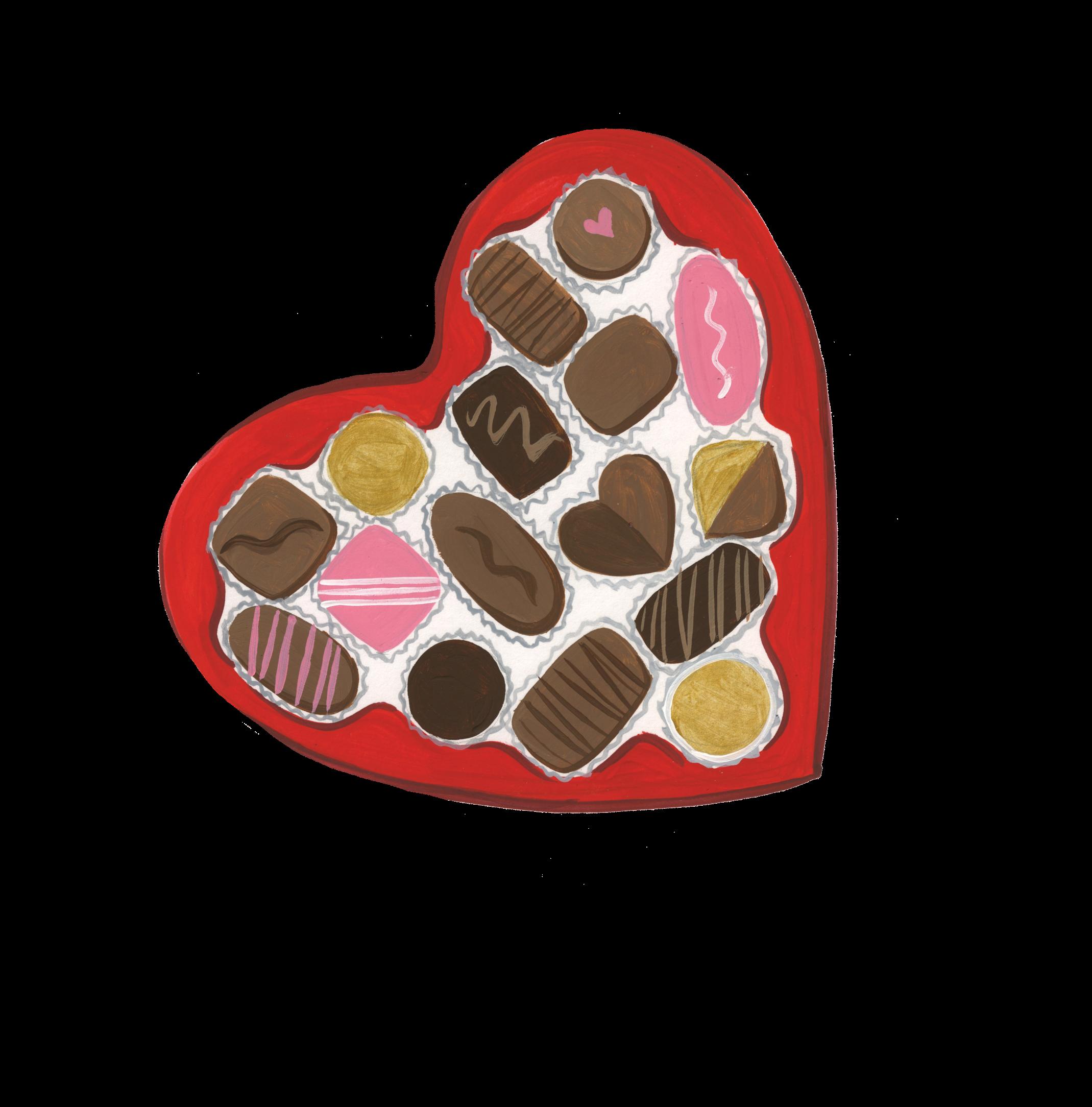 Be My Valentine Chocolates Print & Cut Files