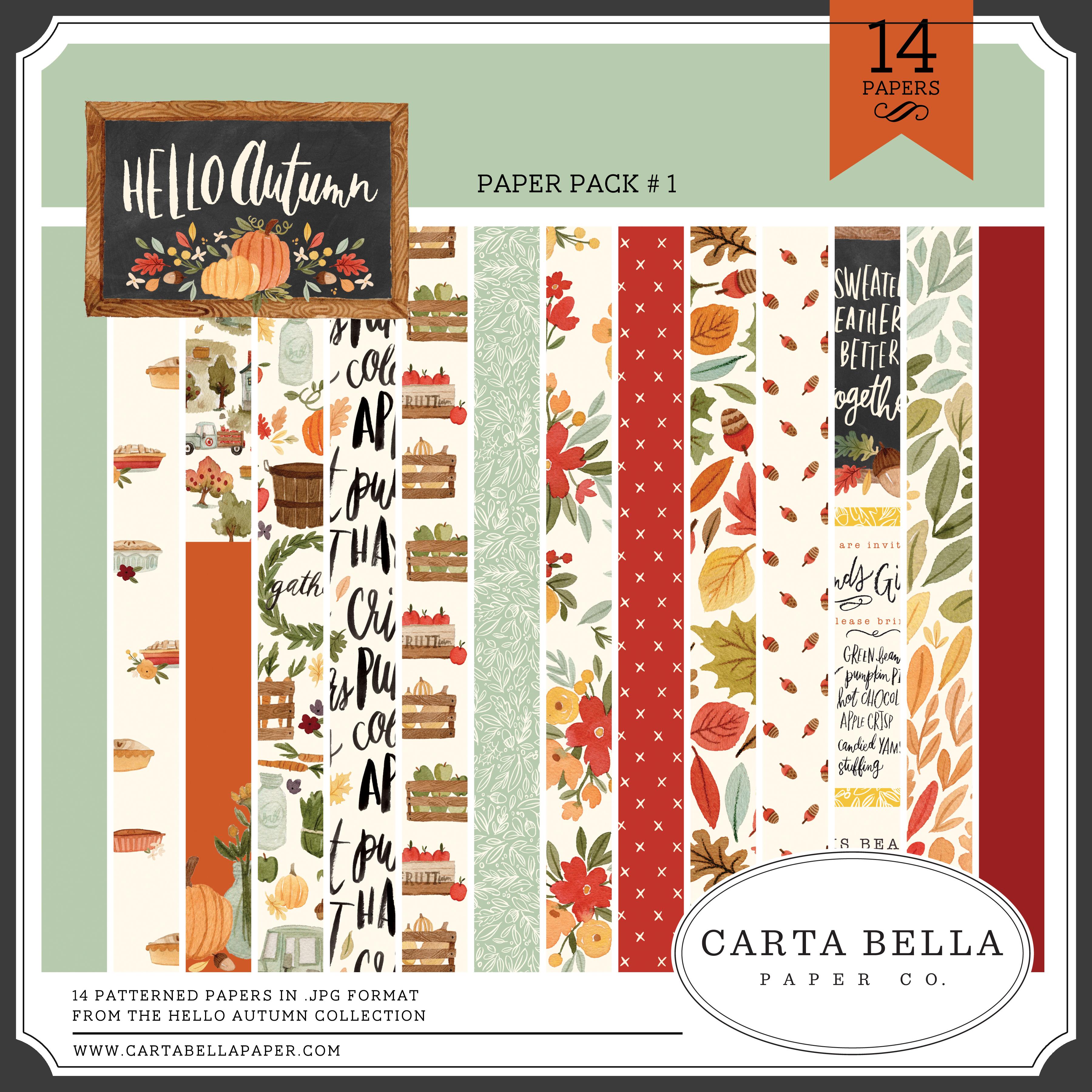 Hello Autumn Paper Pack #1