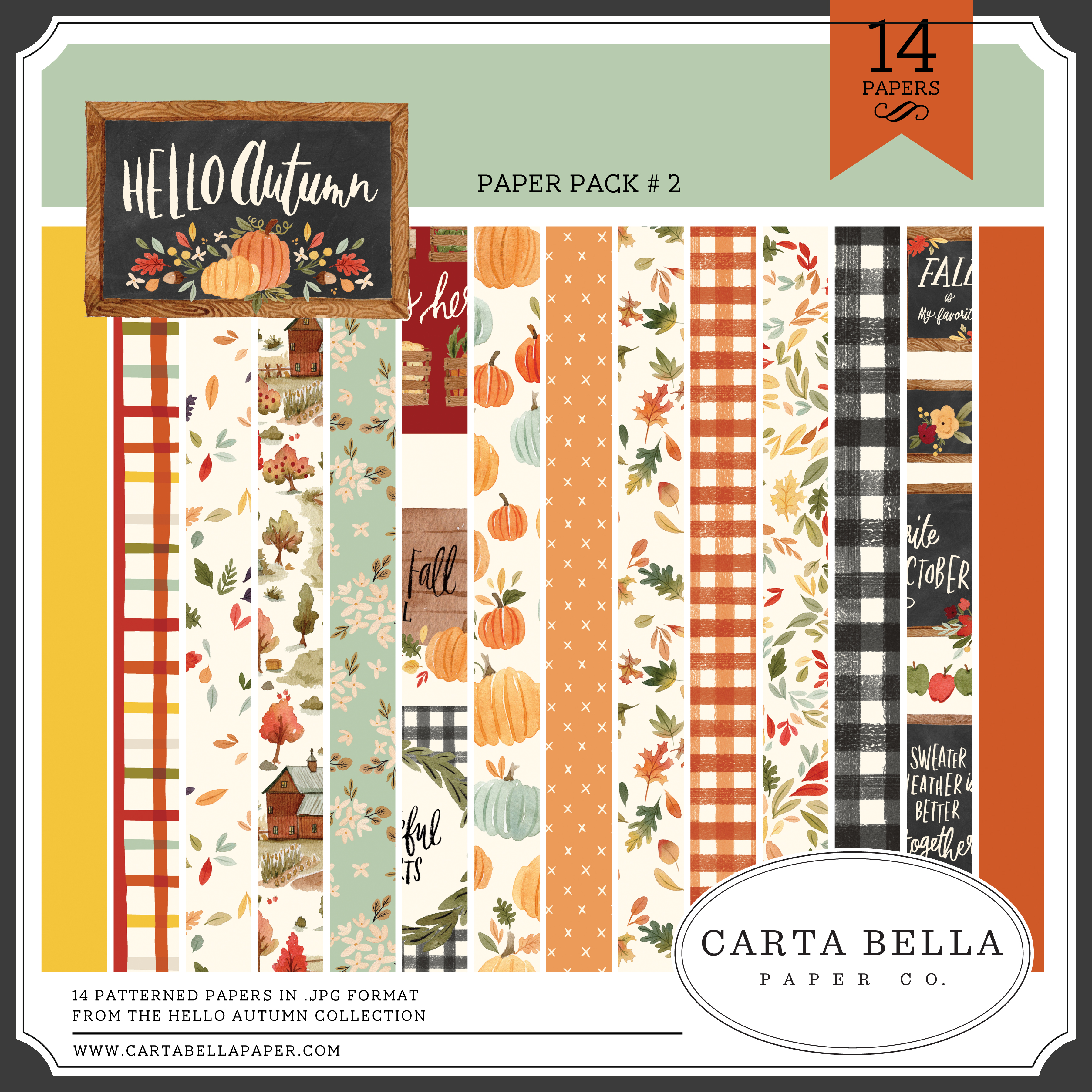 Hello Autumn Paper Pack #2