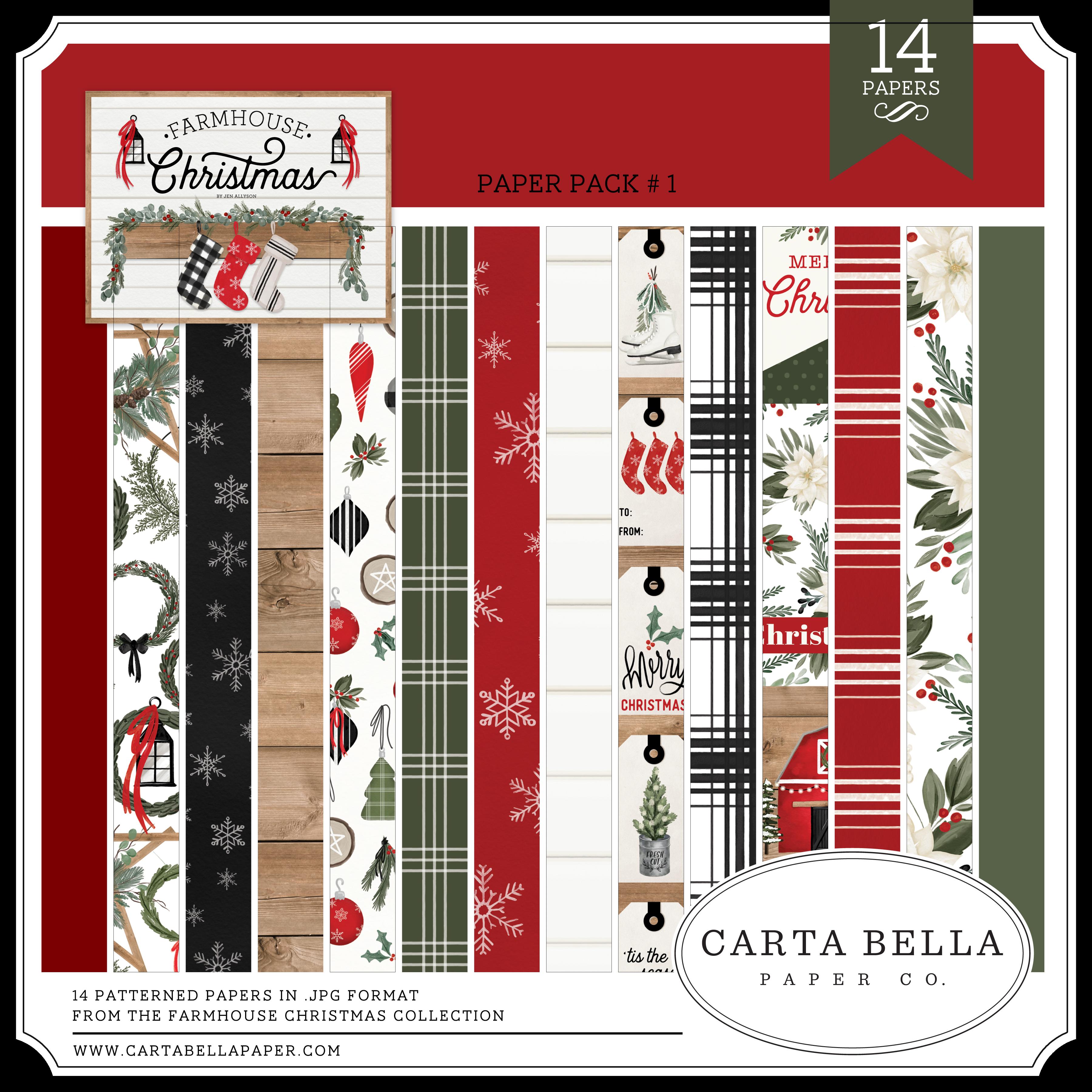 Farmhouse Christmas Paper Pack #1