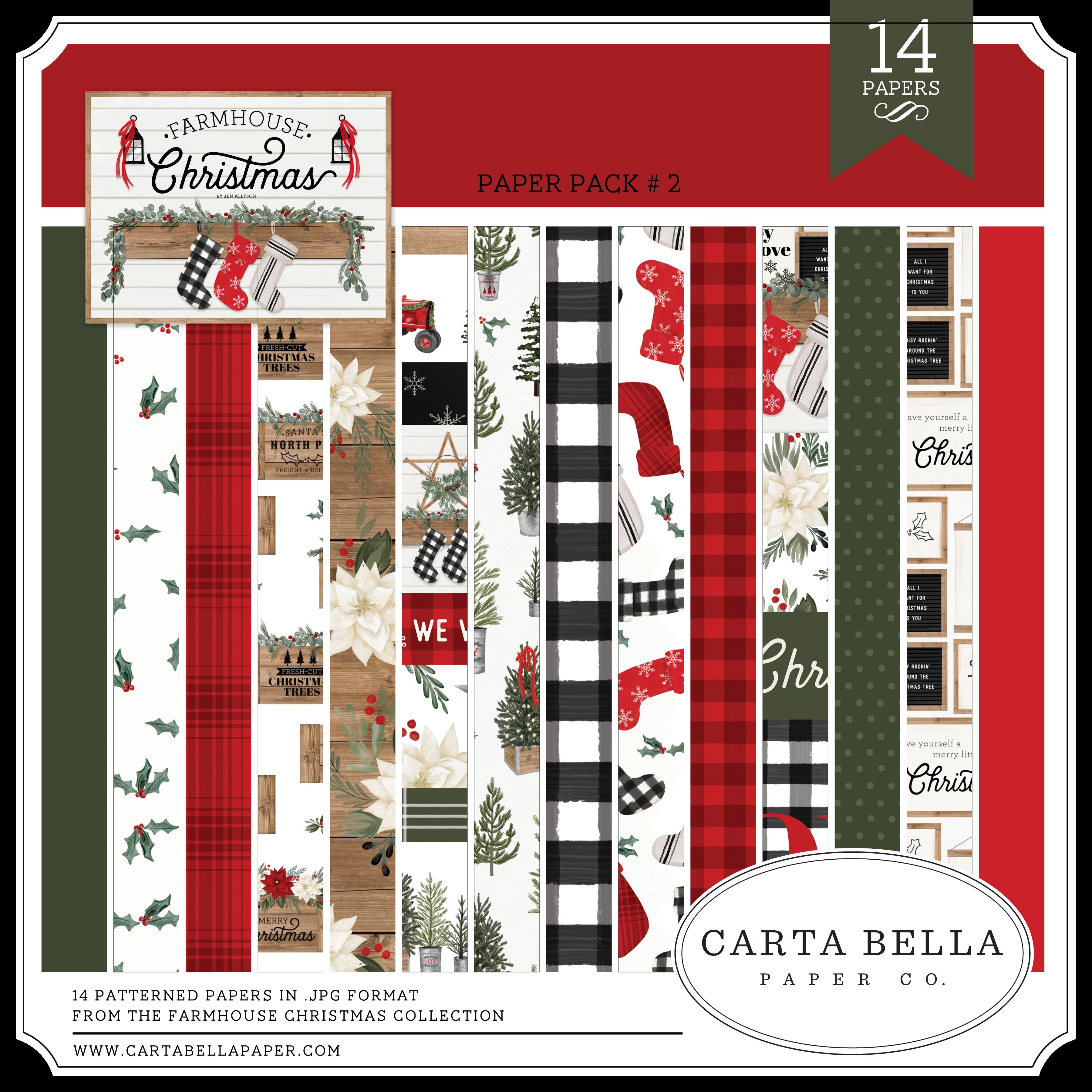 Farmhouse Christmas Paper Pack #2