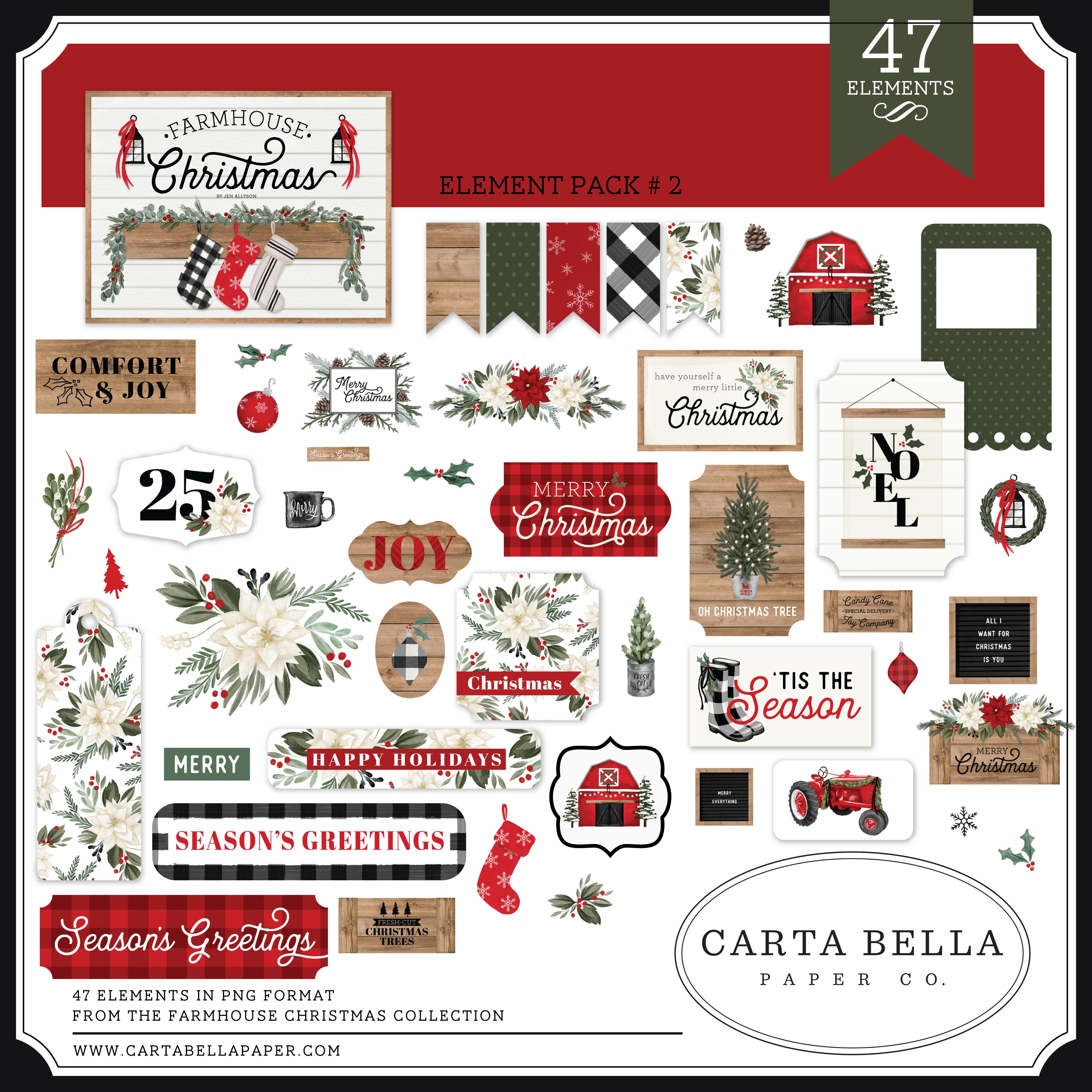 Farmhouse Christmas Element Pack #2