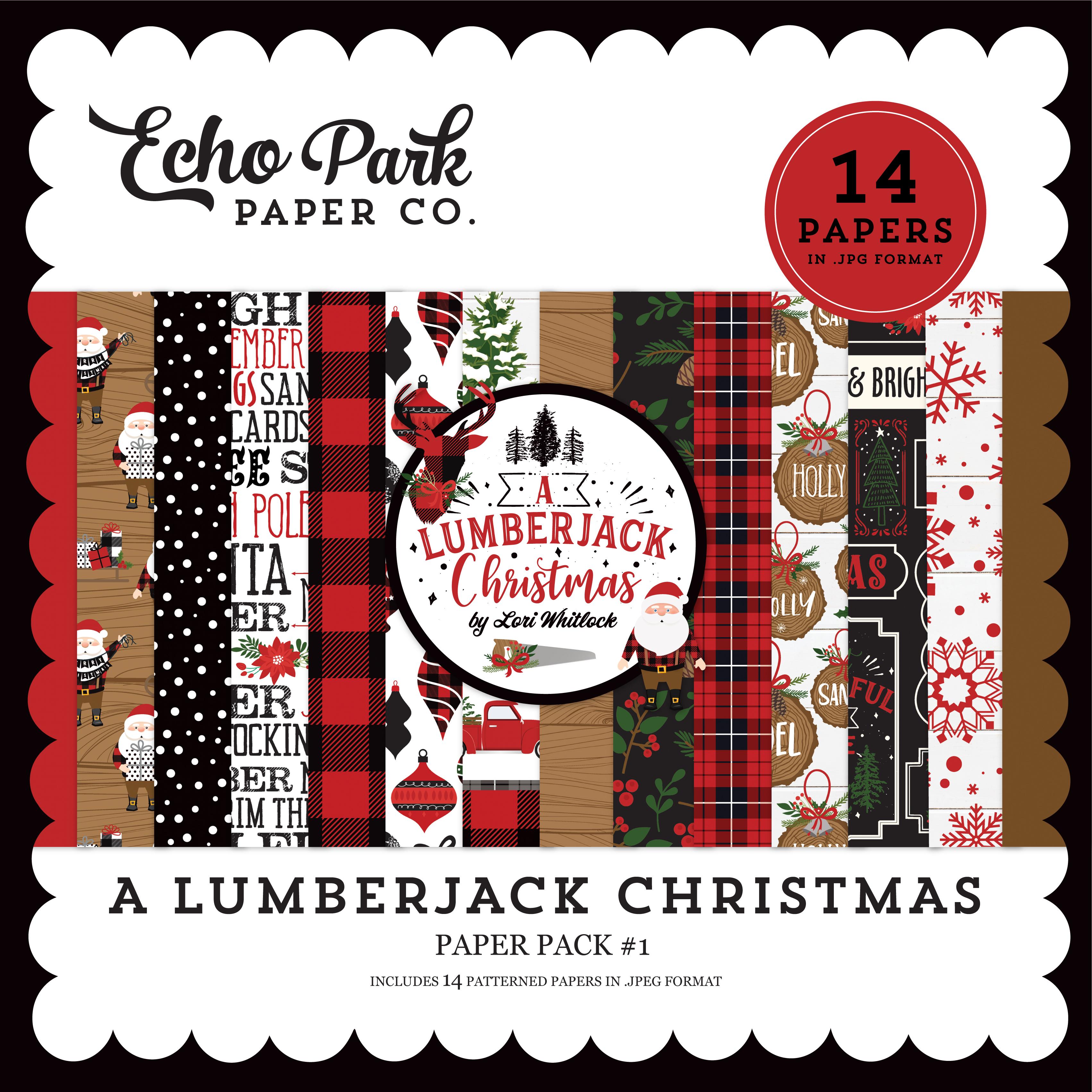 A Lumberjack Christmas Paper Pack #1