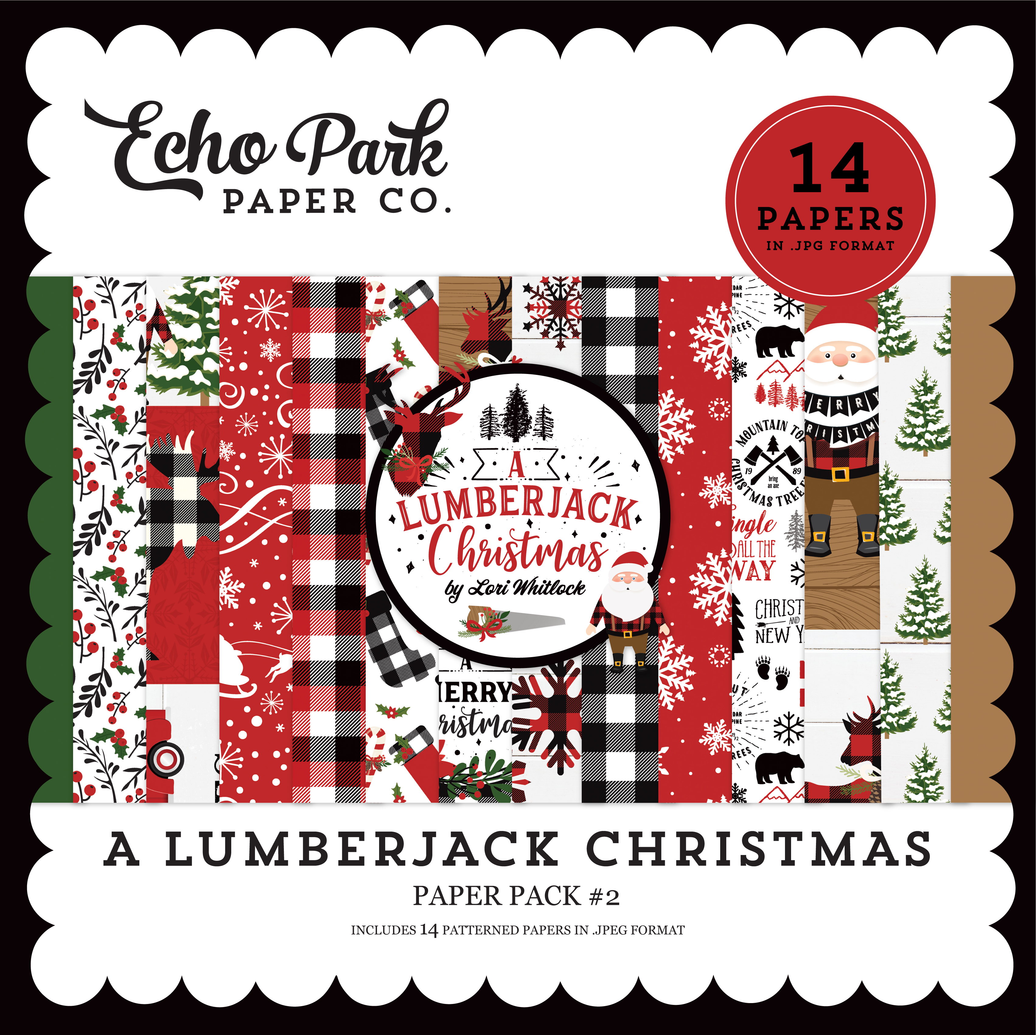 A Lumberjack Christmas Paper Pack #2