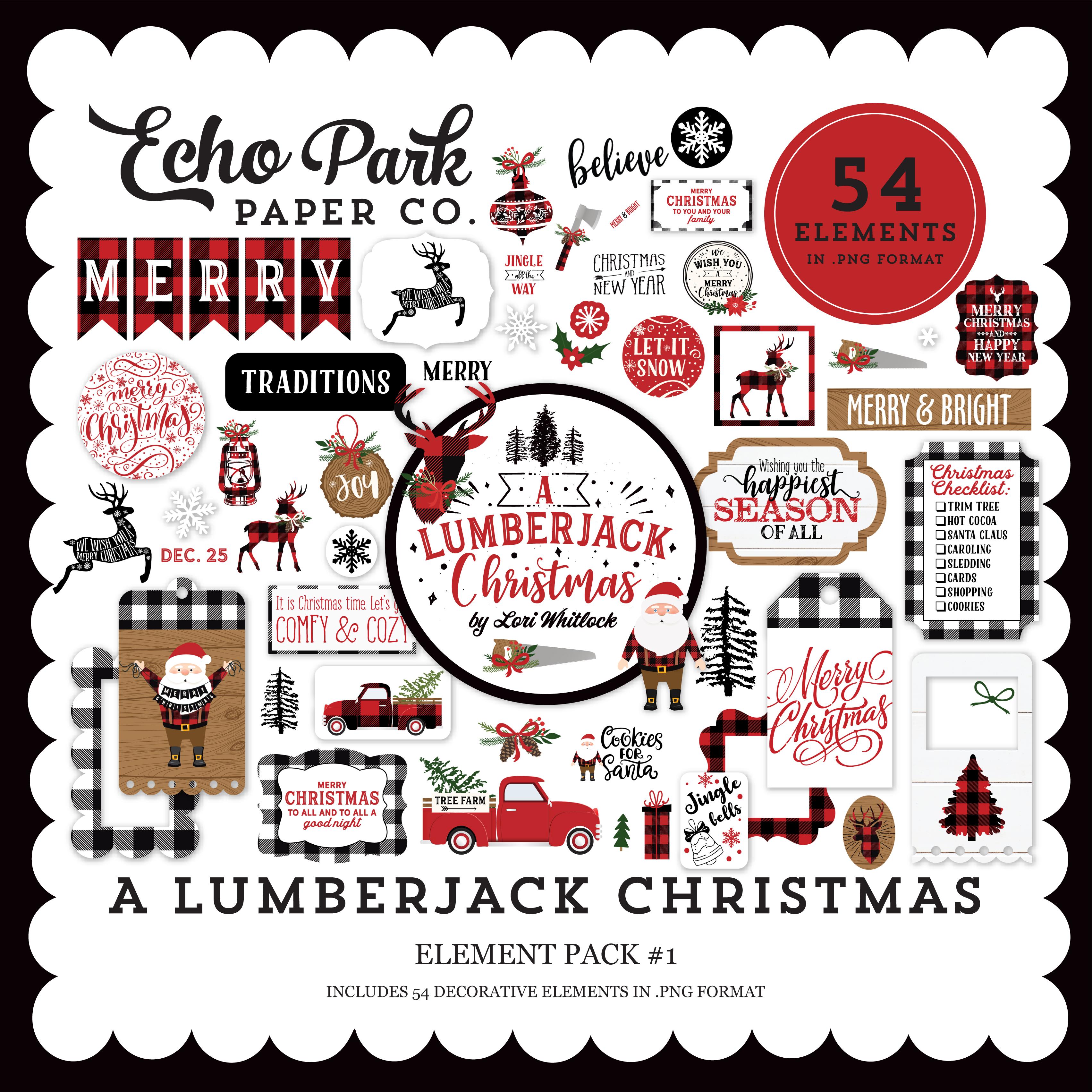 A Lumberjack Christmas Element Pack #1