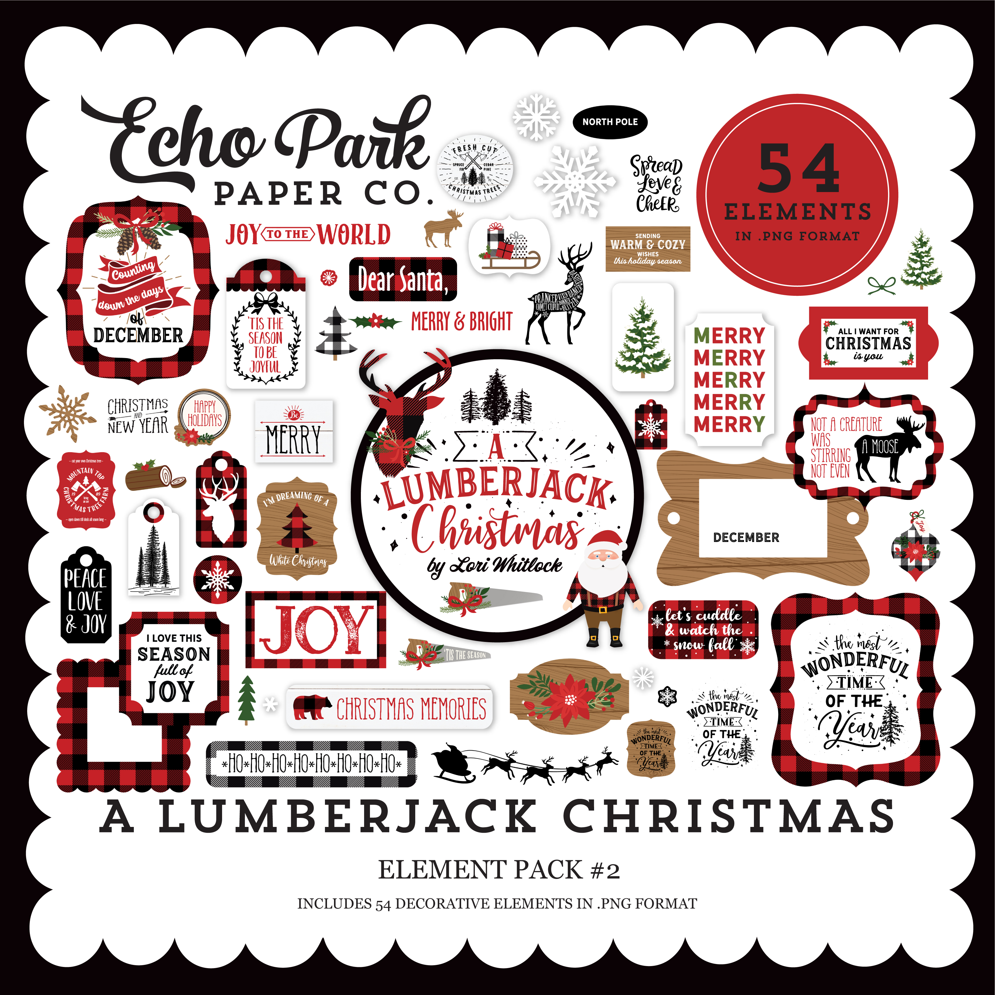 A Lumberjack Christmas Element Pack #2