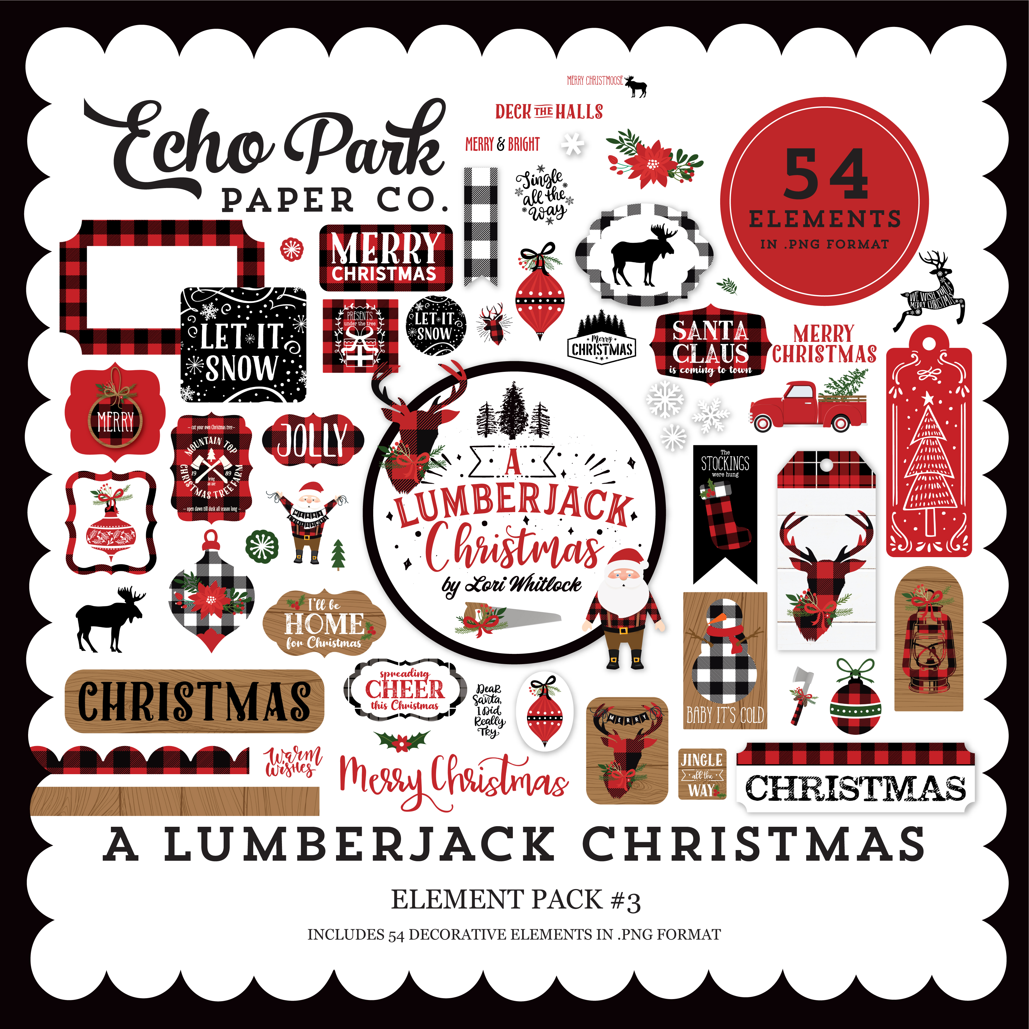 A Lumberjack Christmas Element Pack #3