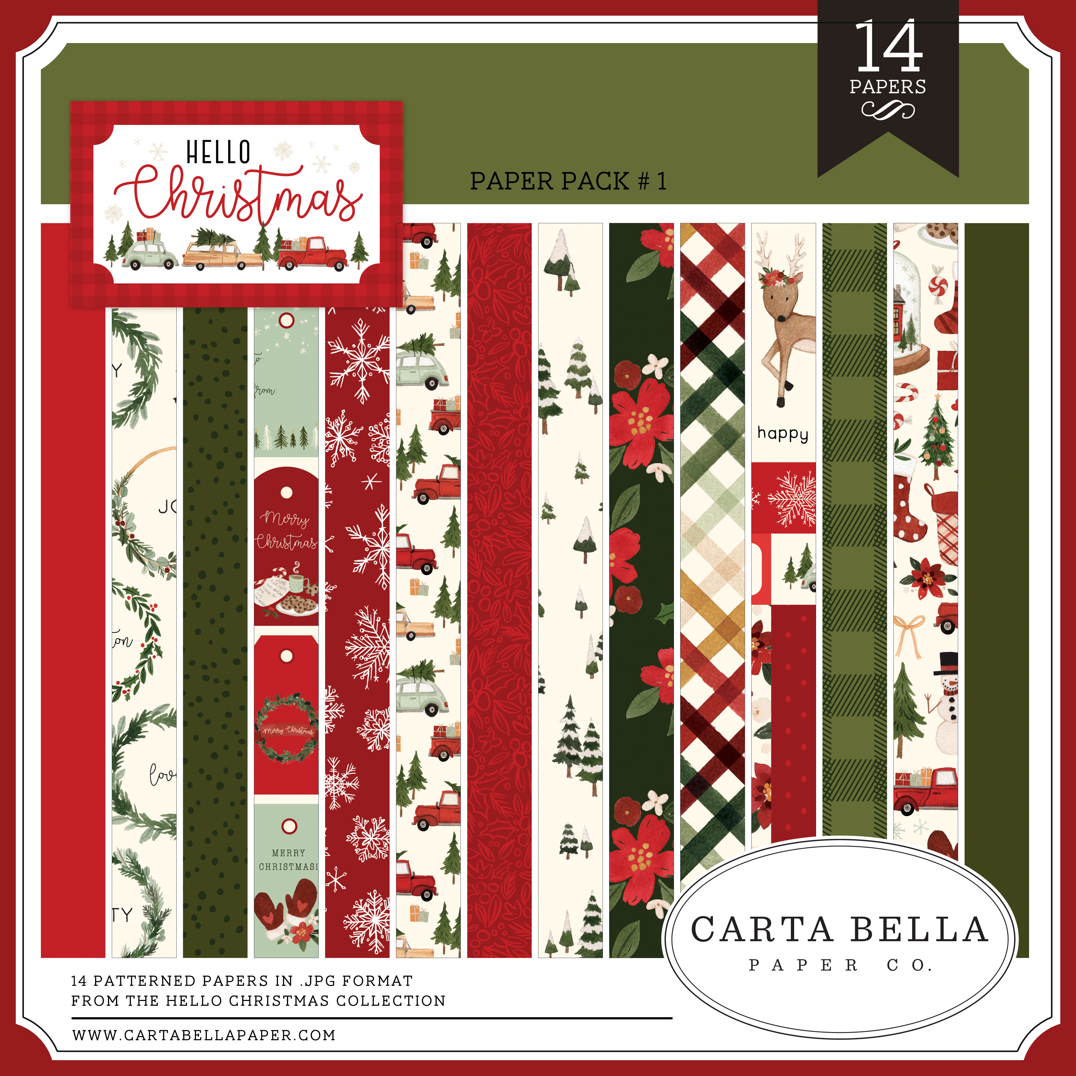 Hello Christmas Paper Pack #1