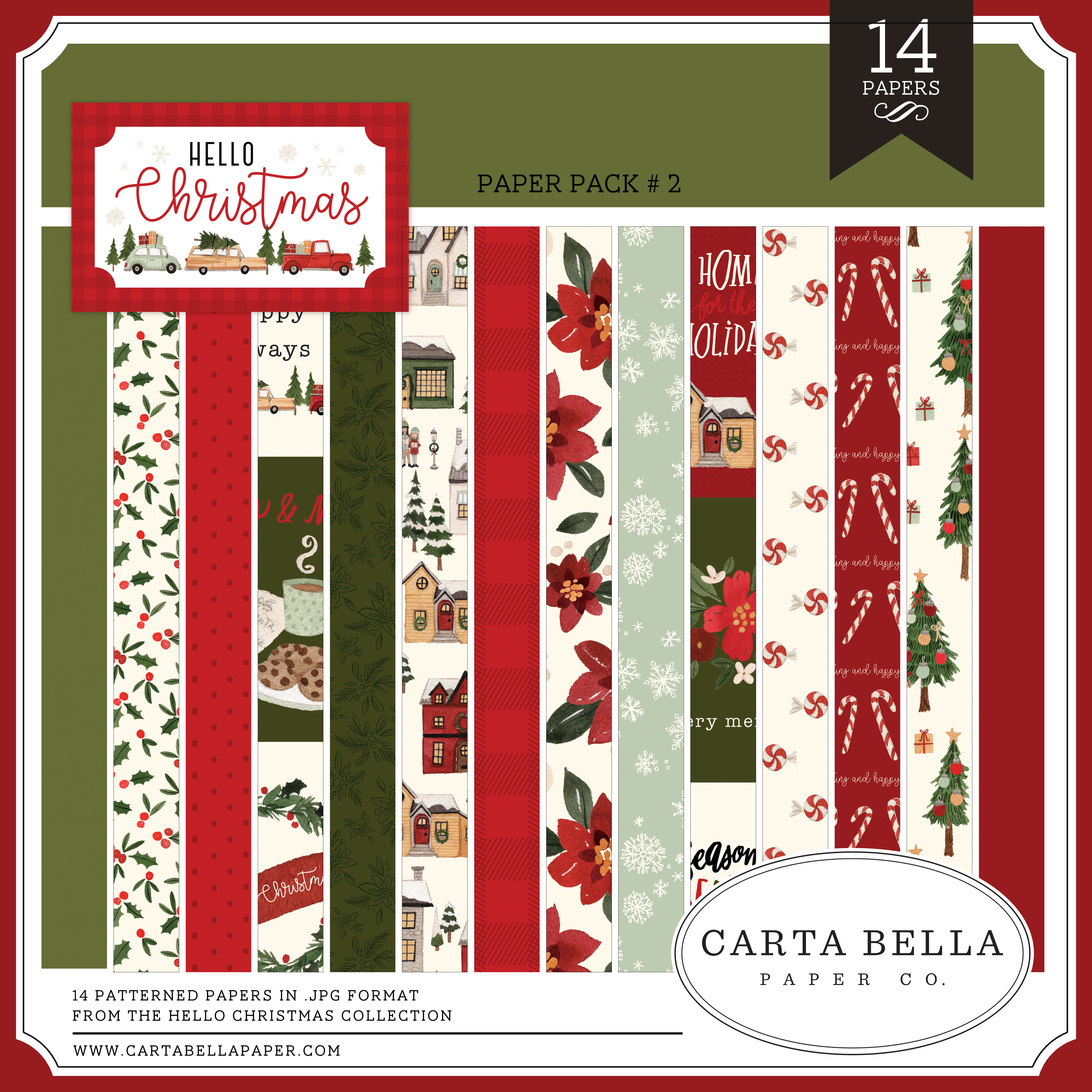 Hello Christmas Paper Pack #2