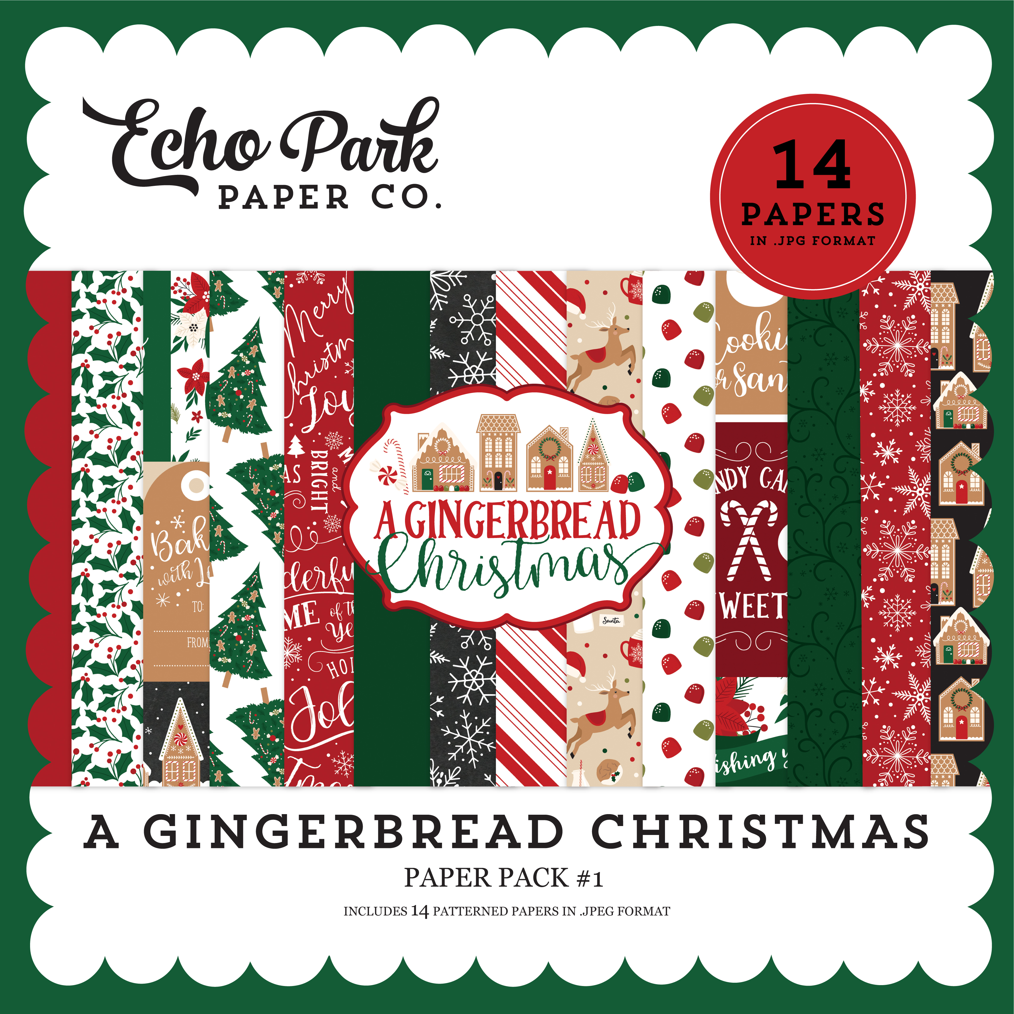 A Gingerbread Christmas Paper Pack #1
