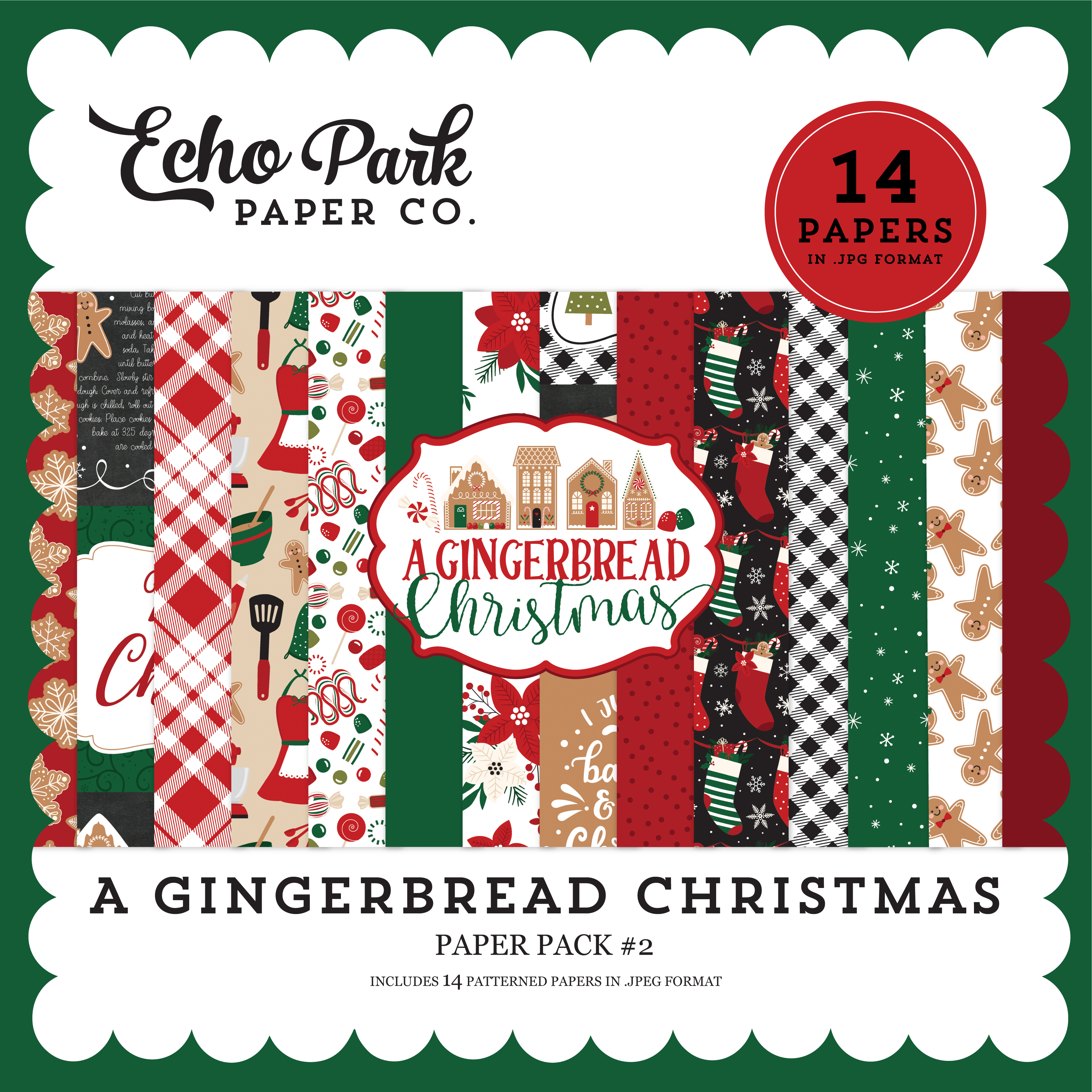 A Gingerbread Christmas Paper Pack #2