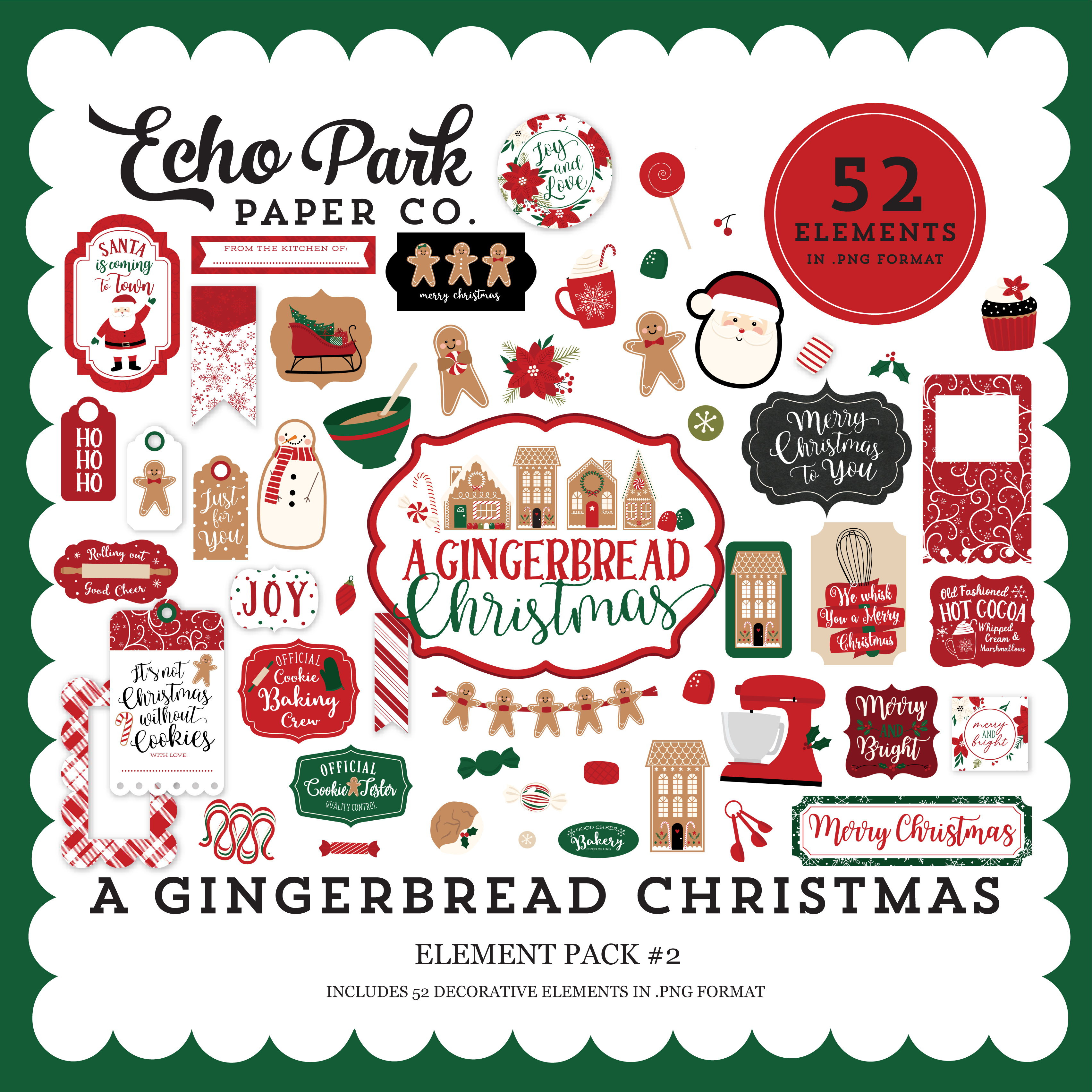 A Gingerbread Christmas Element Pack #2