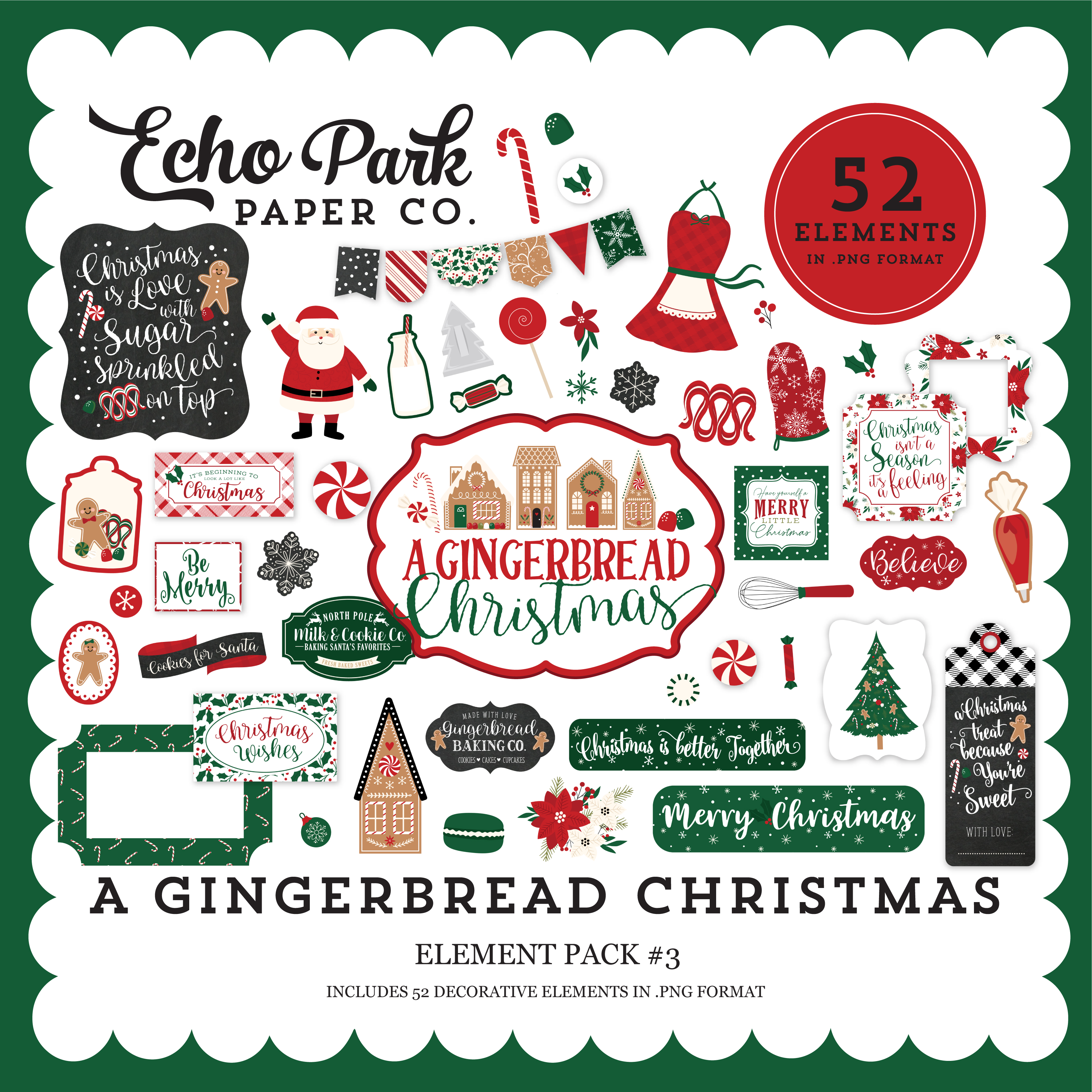A Gingerbread Christmas Element Pack #3