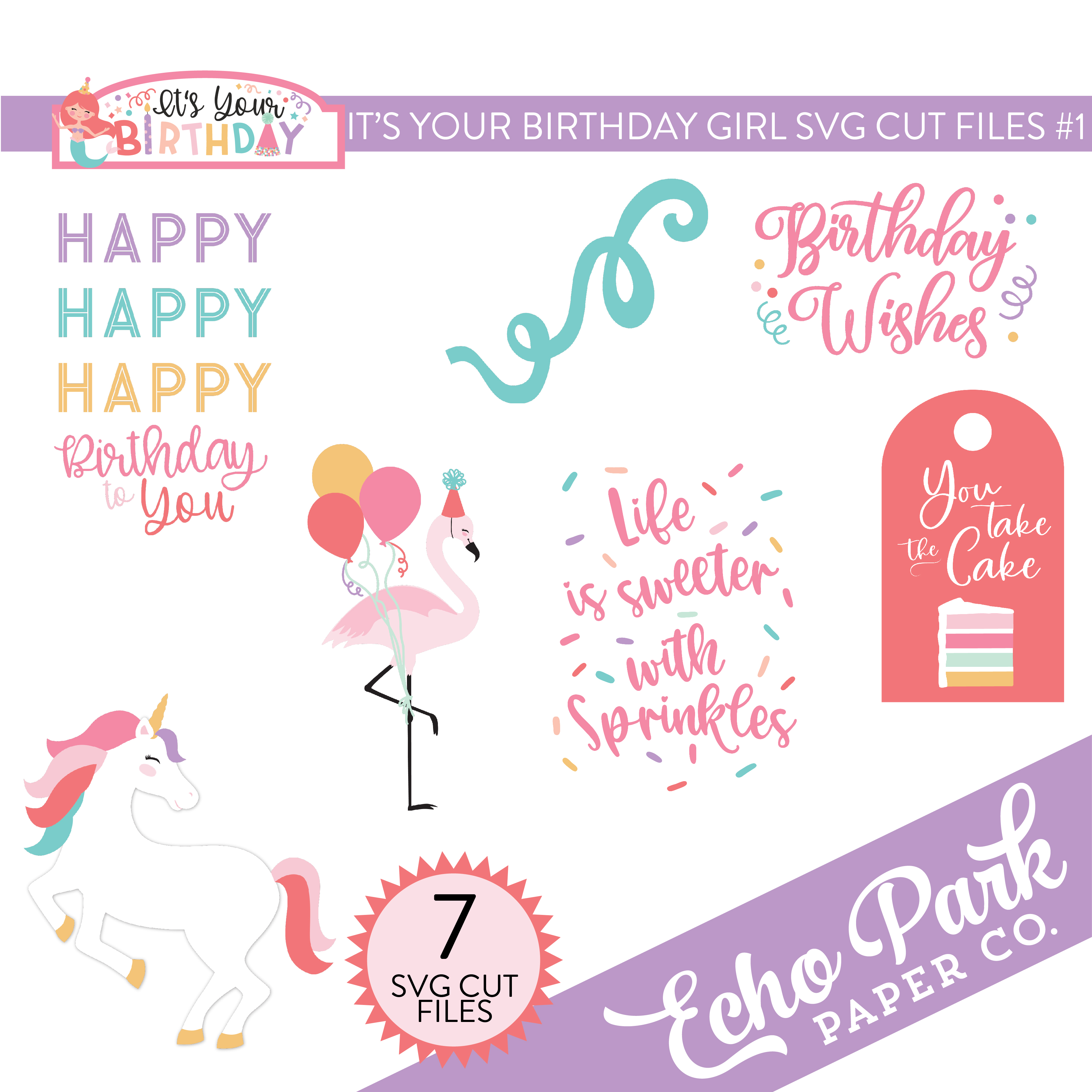 It's Your Birthday Girl SVG Cut Files #1