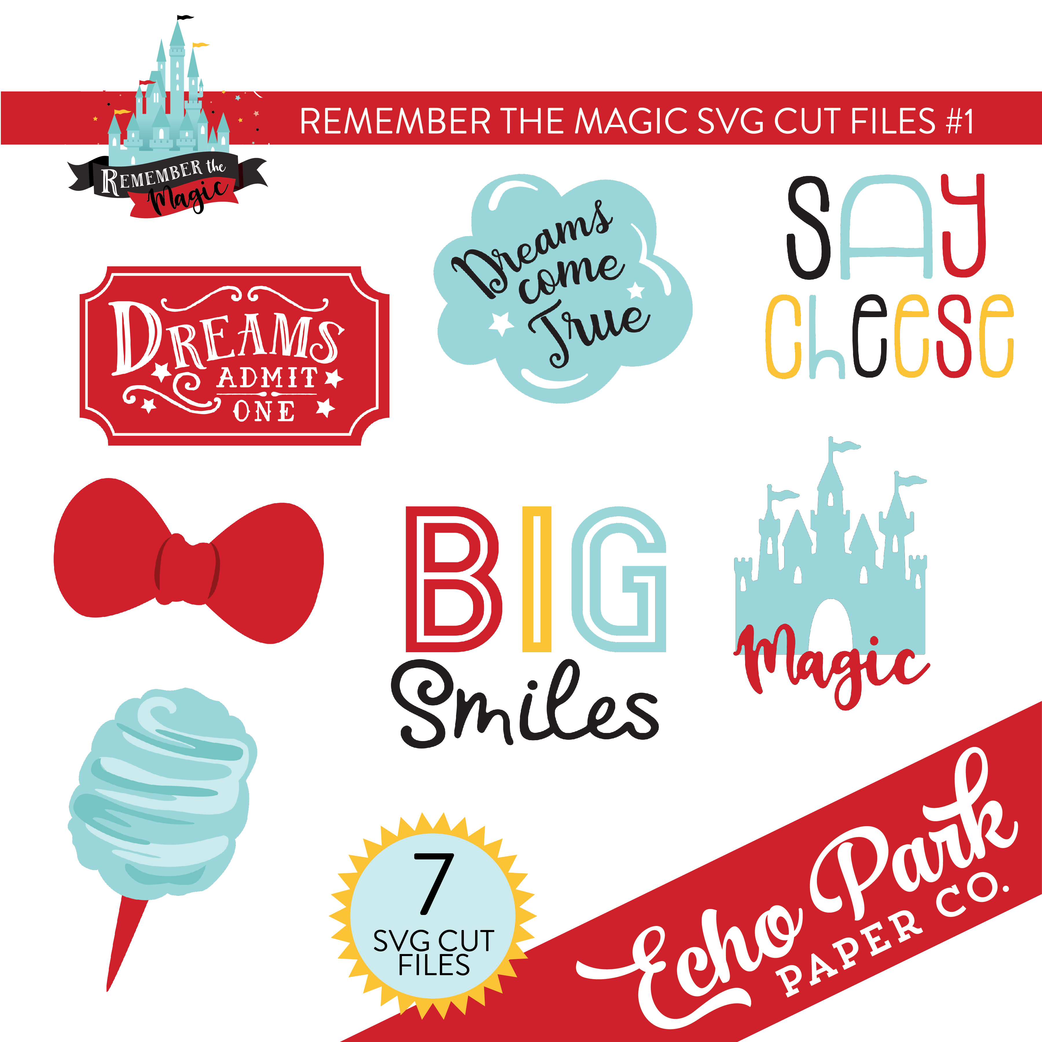 Remember The Magic SVG Cut Files #1