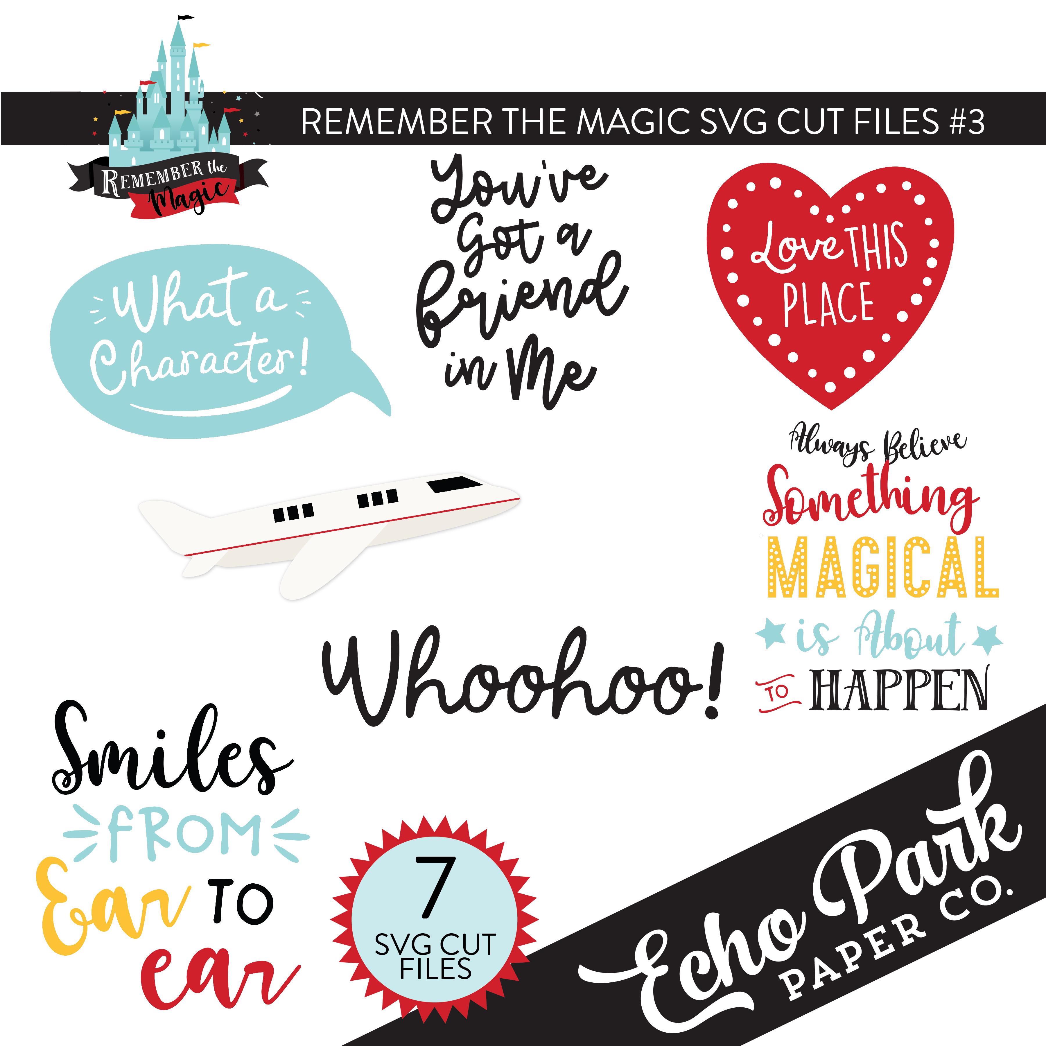 Remember The Magic SVG Cut Files #3