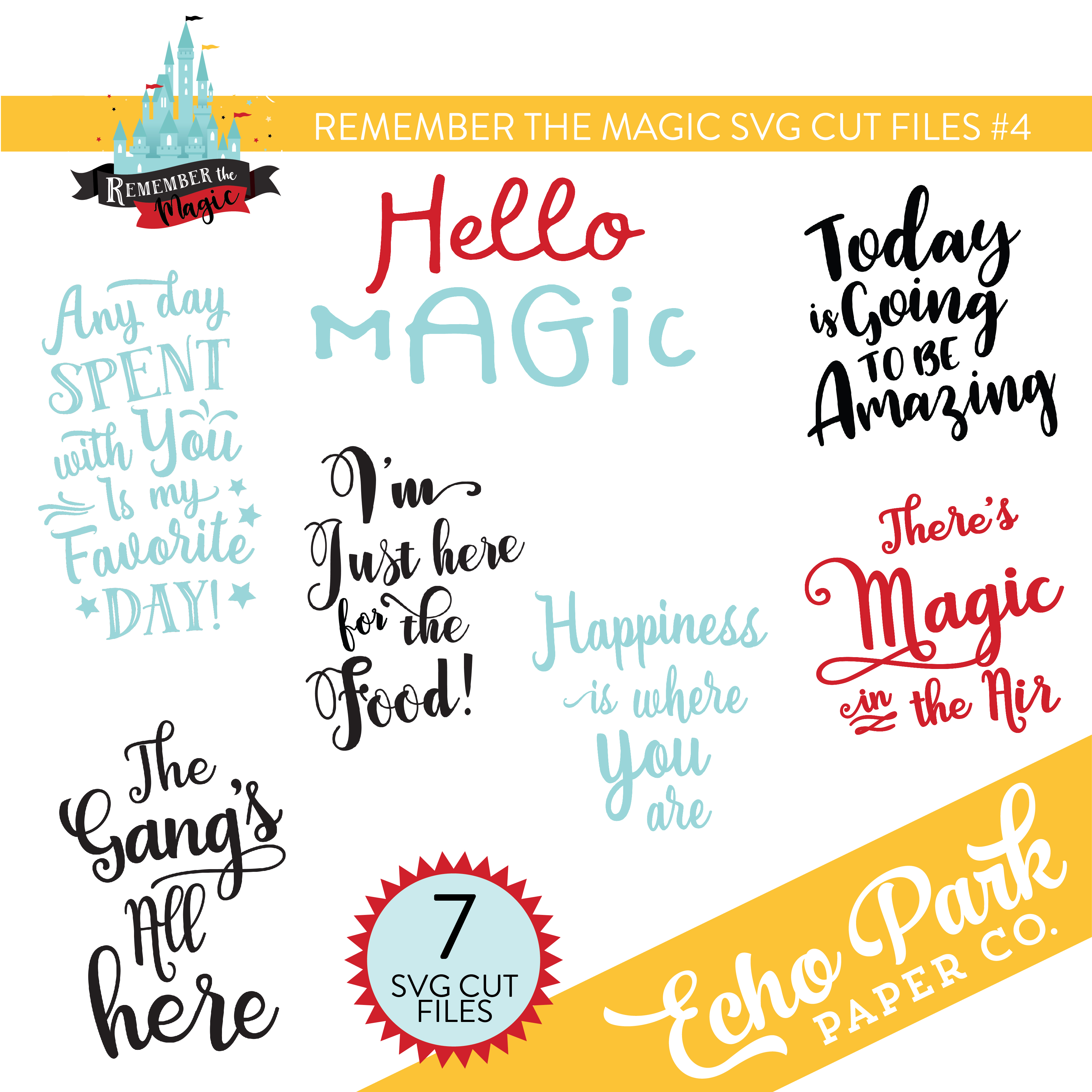 Remember The Magic SVG Cut Files #4