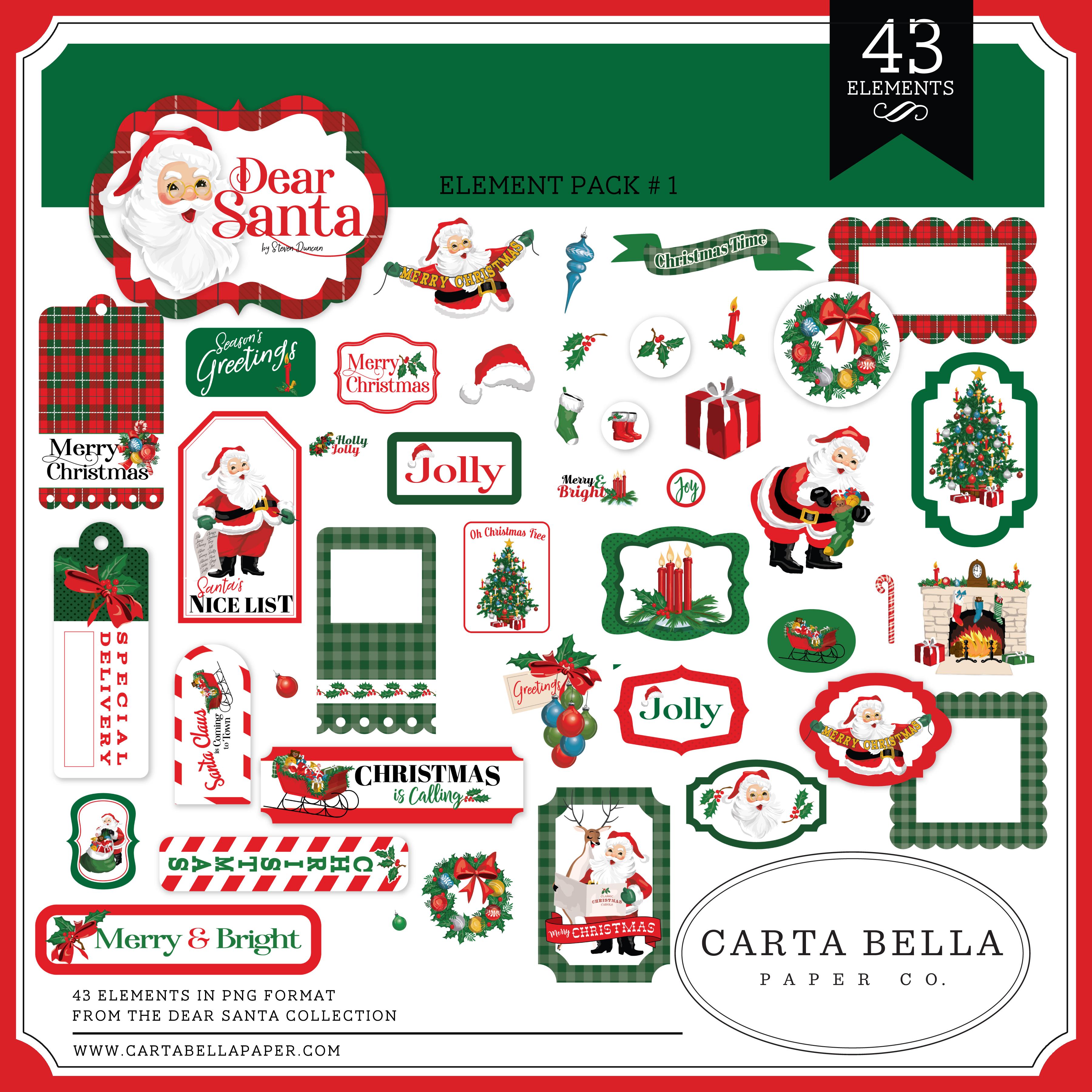 Dear Santa Element Pack #1