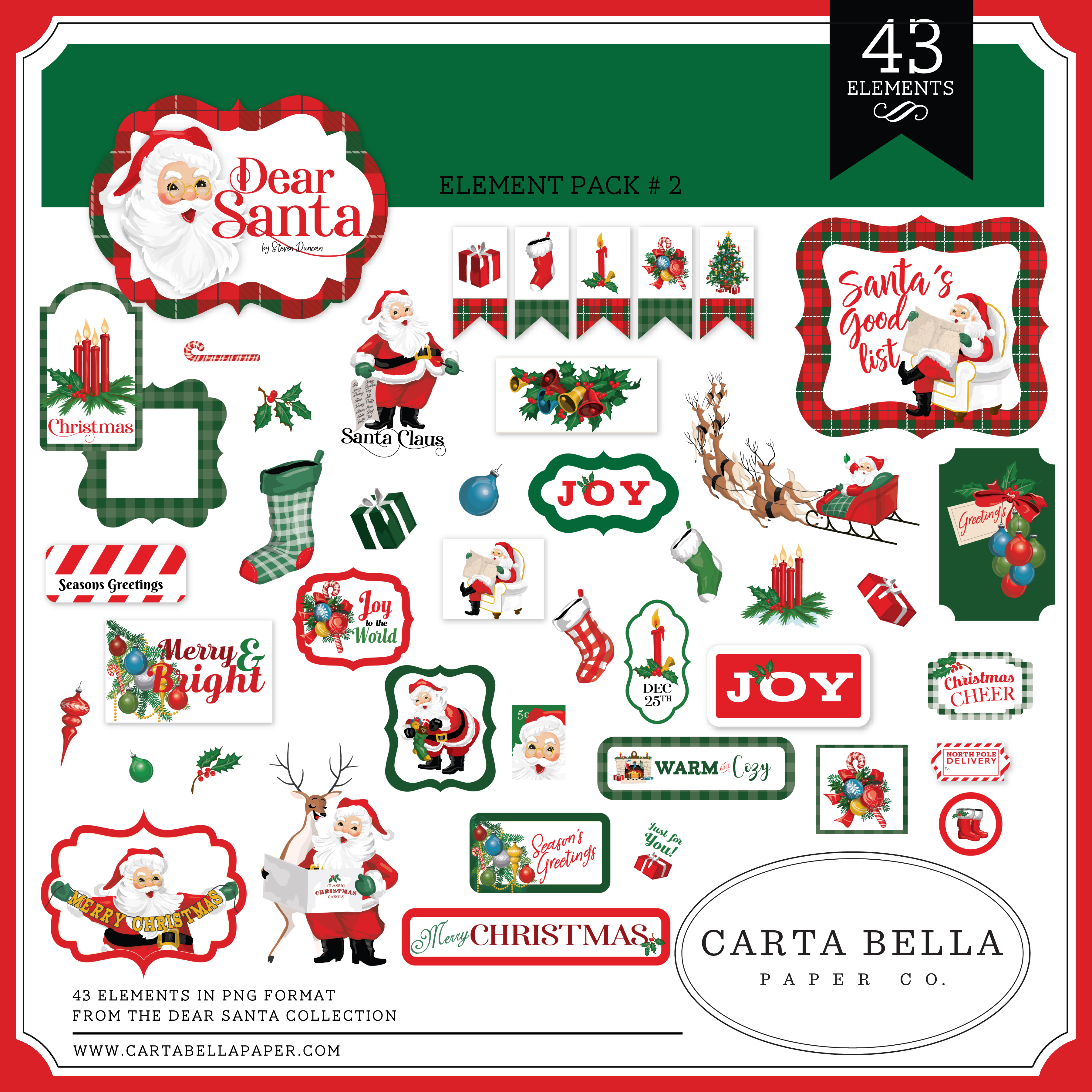Dear Santa Element Pack #2