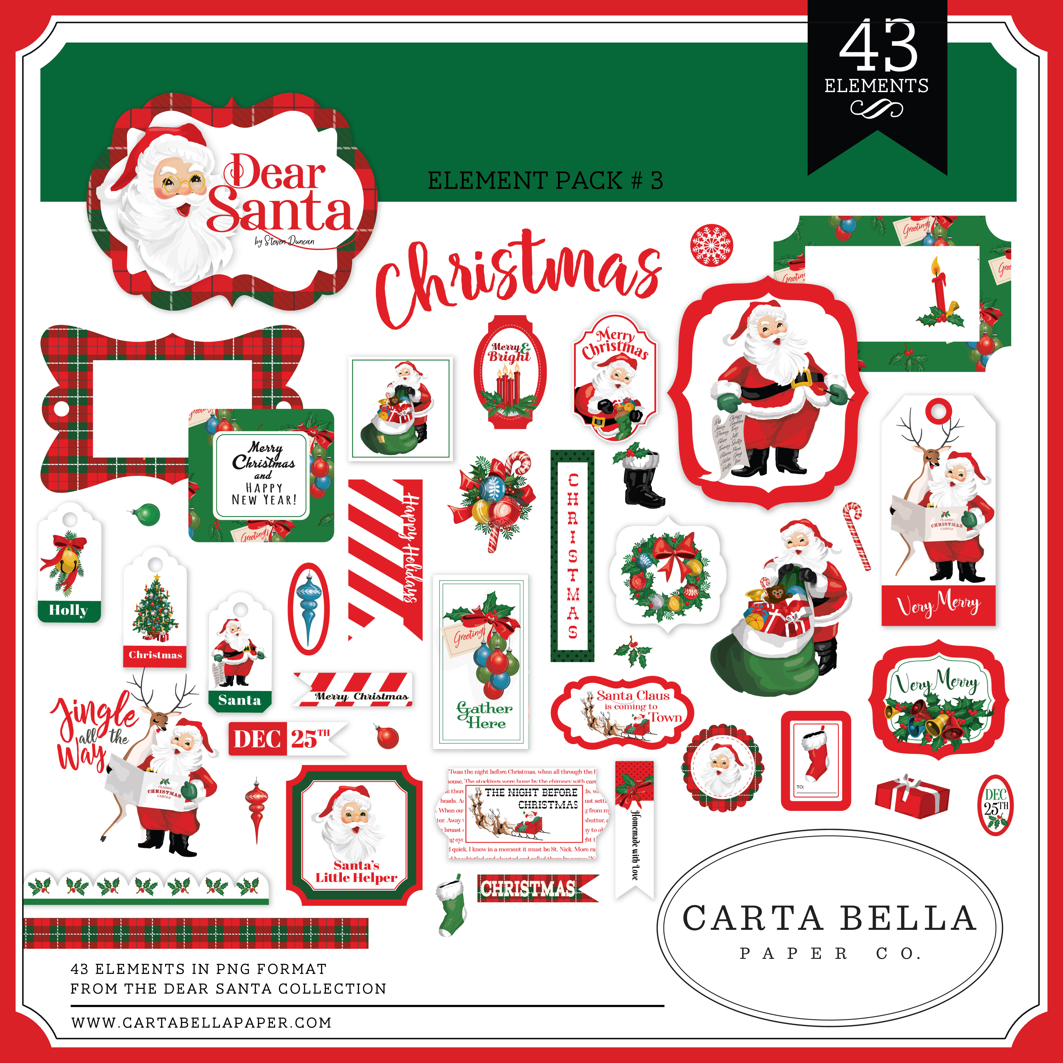 Dear Santa Element Pack #3