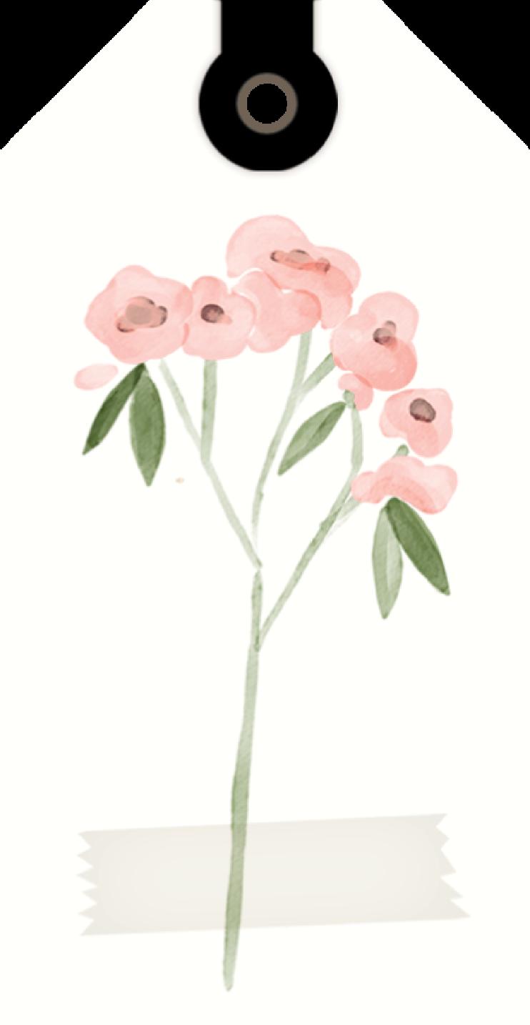 Flower Tag Print & Cut File